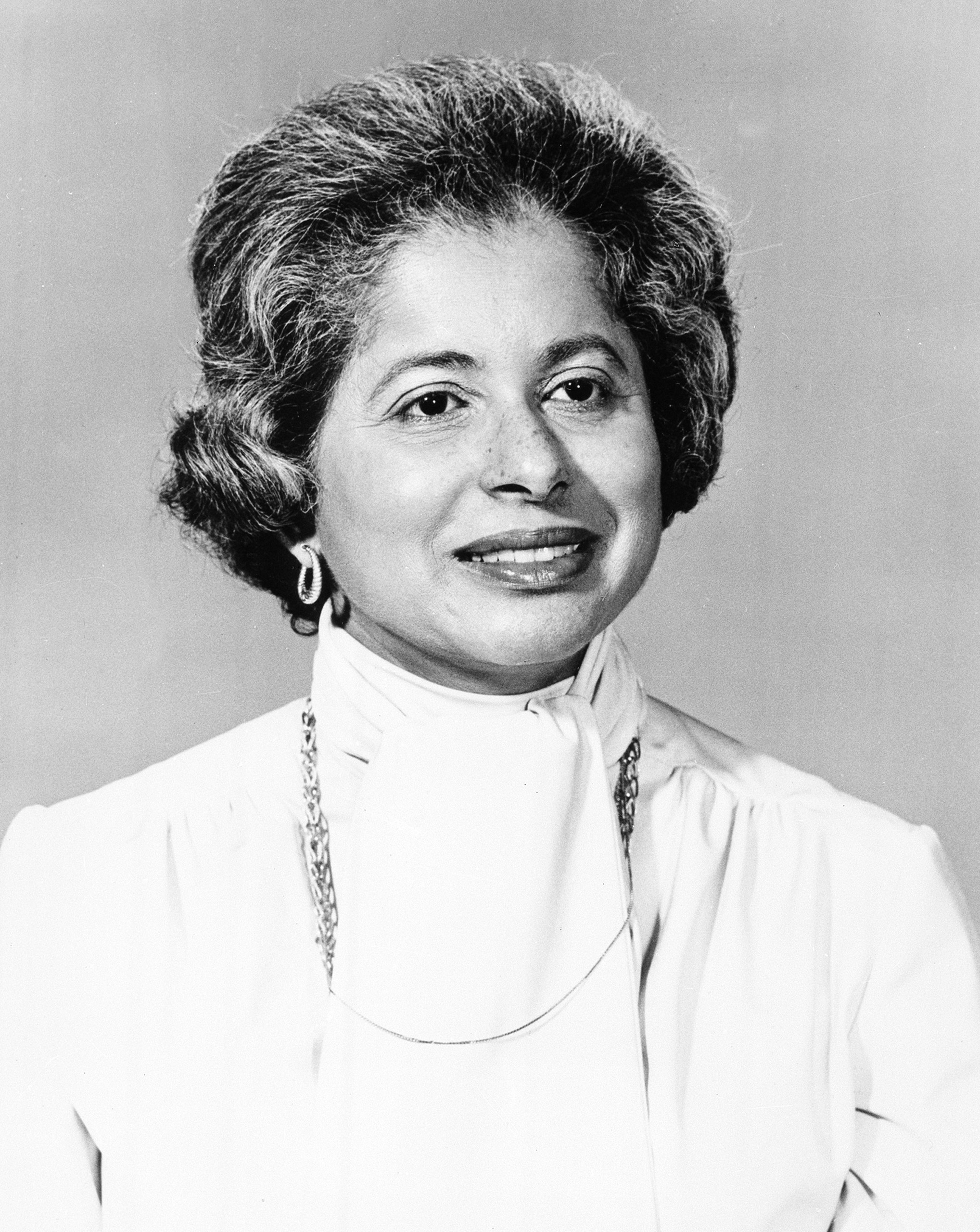 Patricia Roberts Harris, Secretary of the Department of Housing and Urban Development appointed by President Carter. 1979.