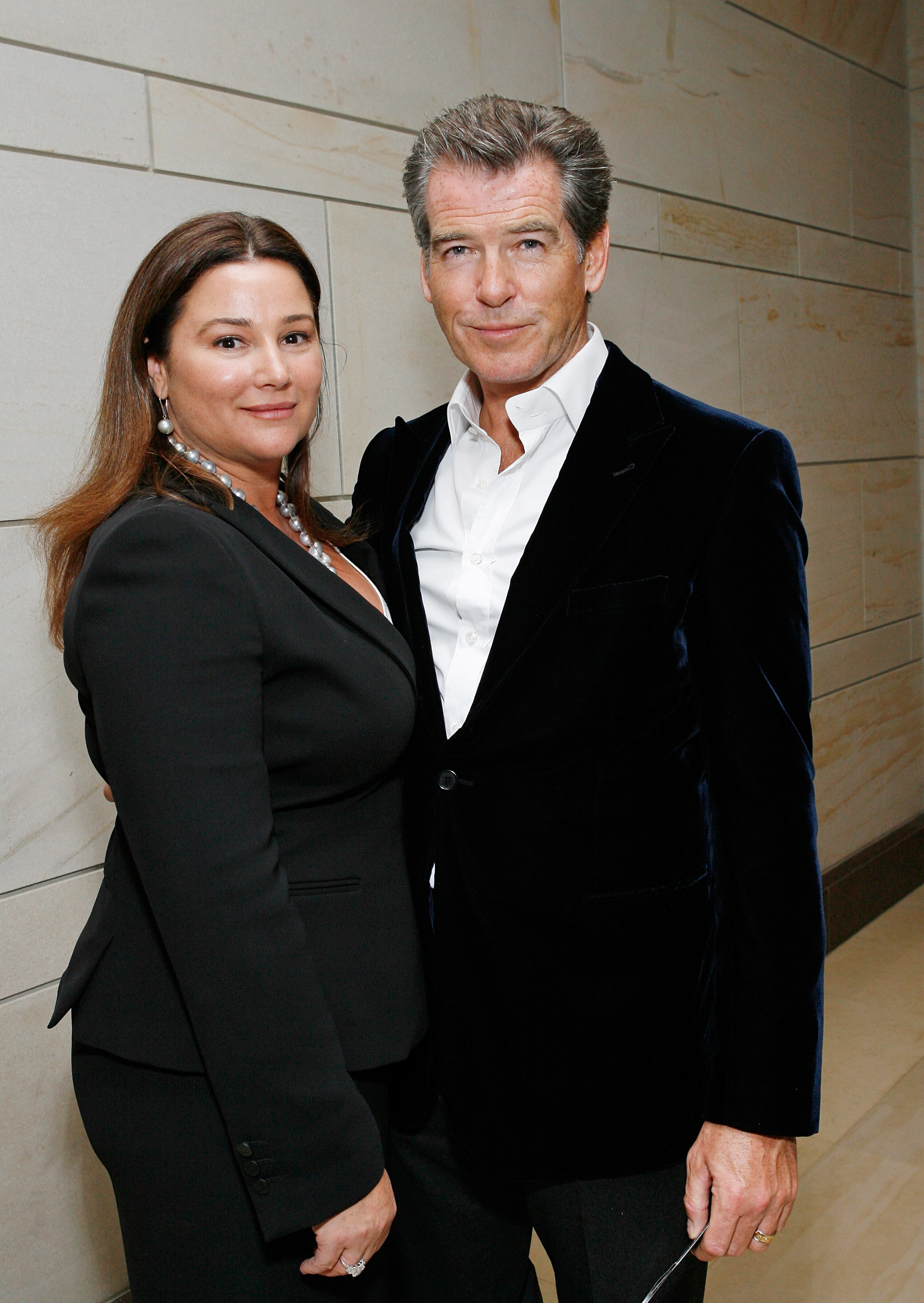 Honorary chairs Keely Brosnan and actor Pierce Brosnan attend the International Fund For Animal Welfare's Global Whale Conservation Congressional Reception at the U.S. Capital Visitor Center Atrium in Washington, D.C., on May 19, 2009.