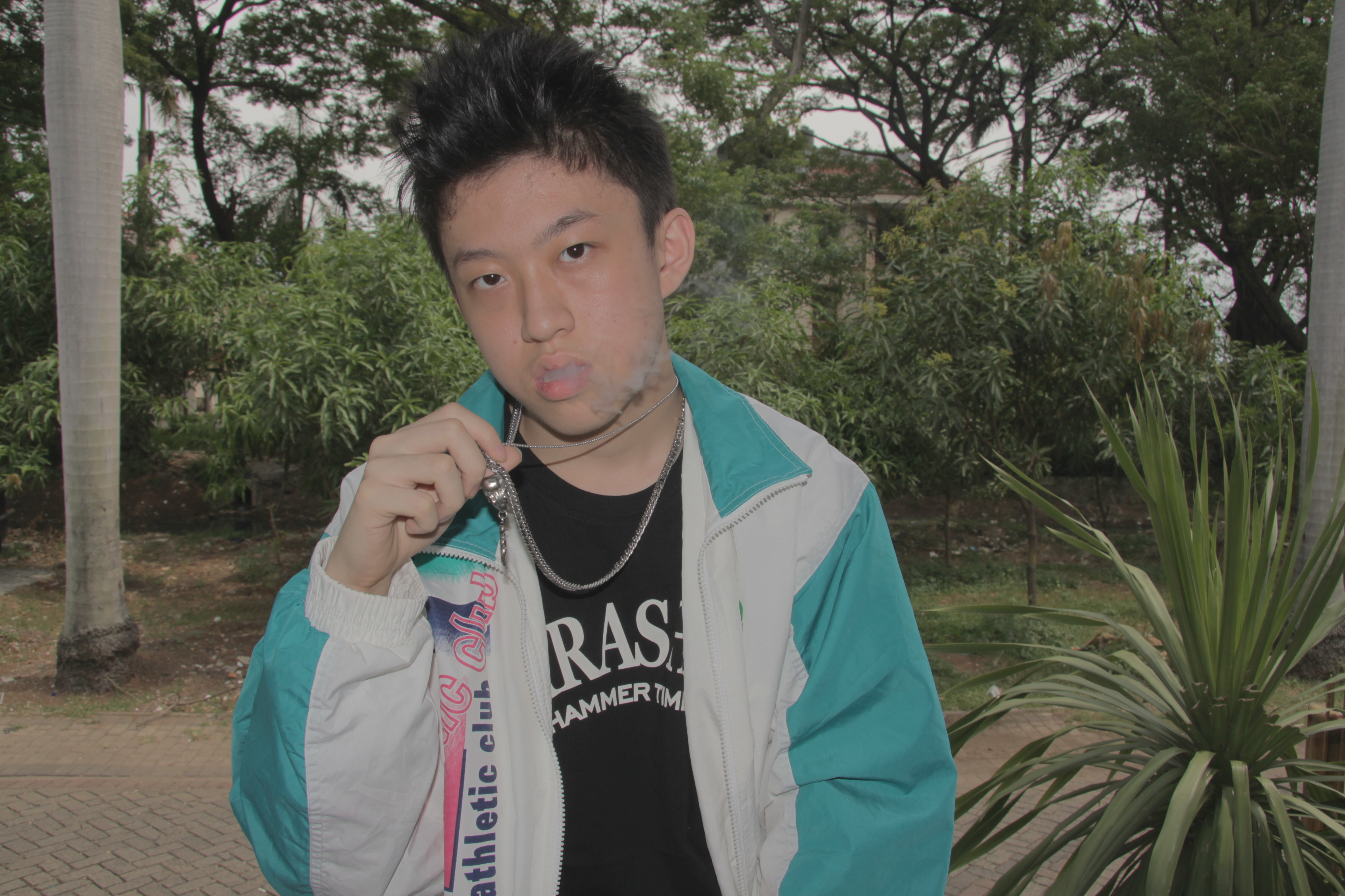 The hip-hop artist and Internet celebrity Brian Imanuel, who goes by the name Rich Chigga is pictured in this management handout photo