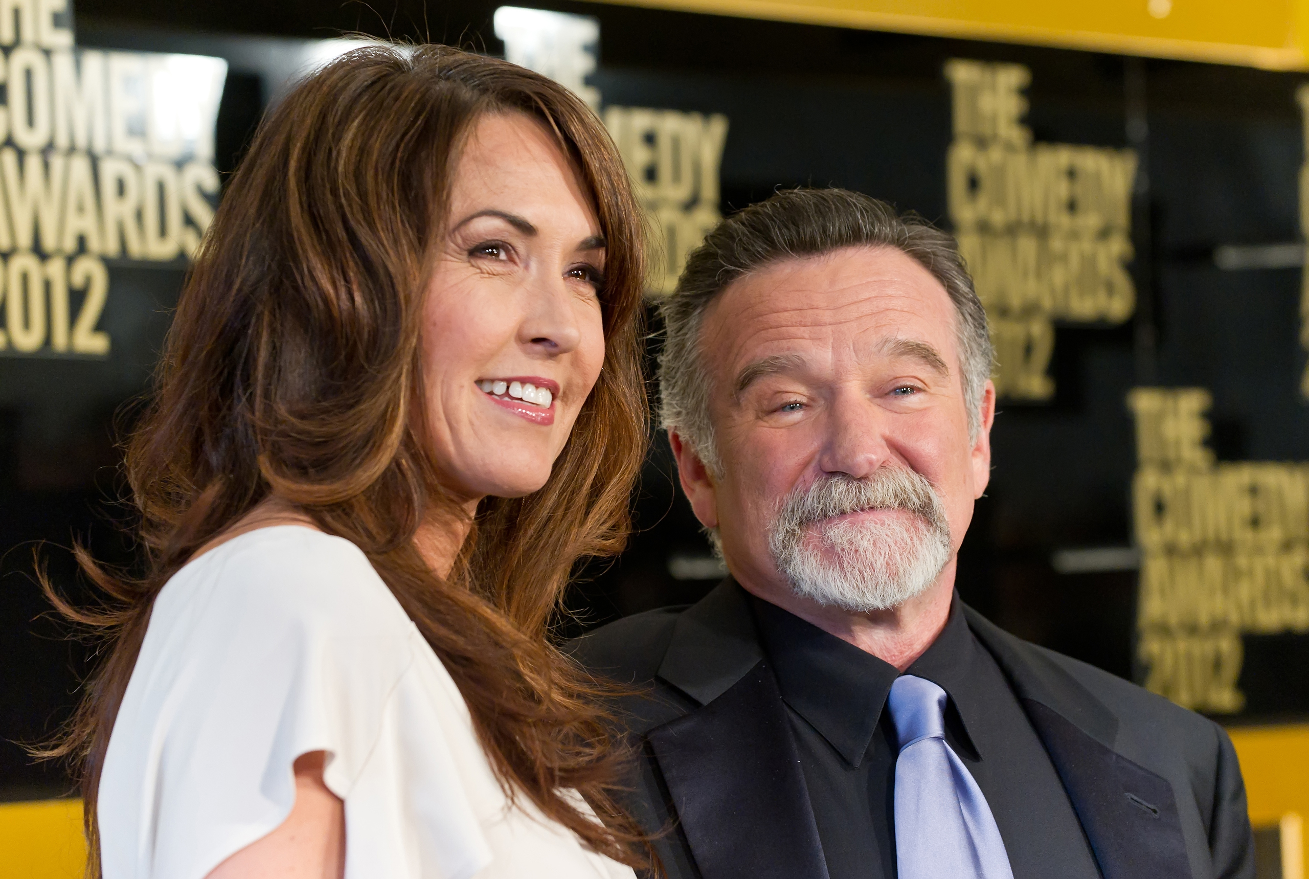 Susan Schneider and comedian Robin Williams attend The Comedy Awards 2012 at Hammerstein Ballroom  in New York City on April 28, 2012.