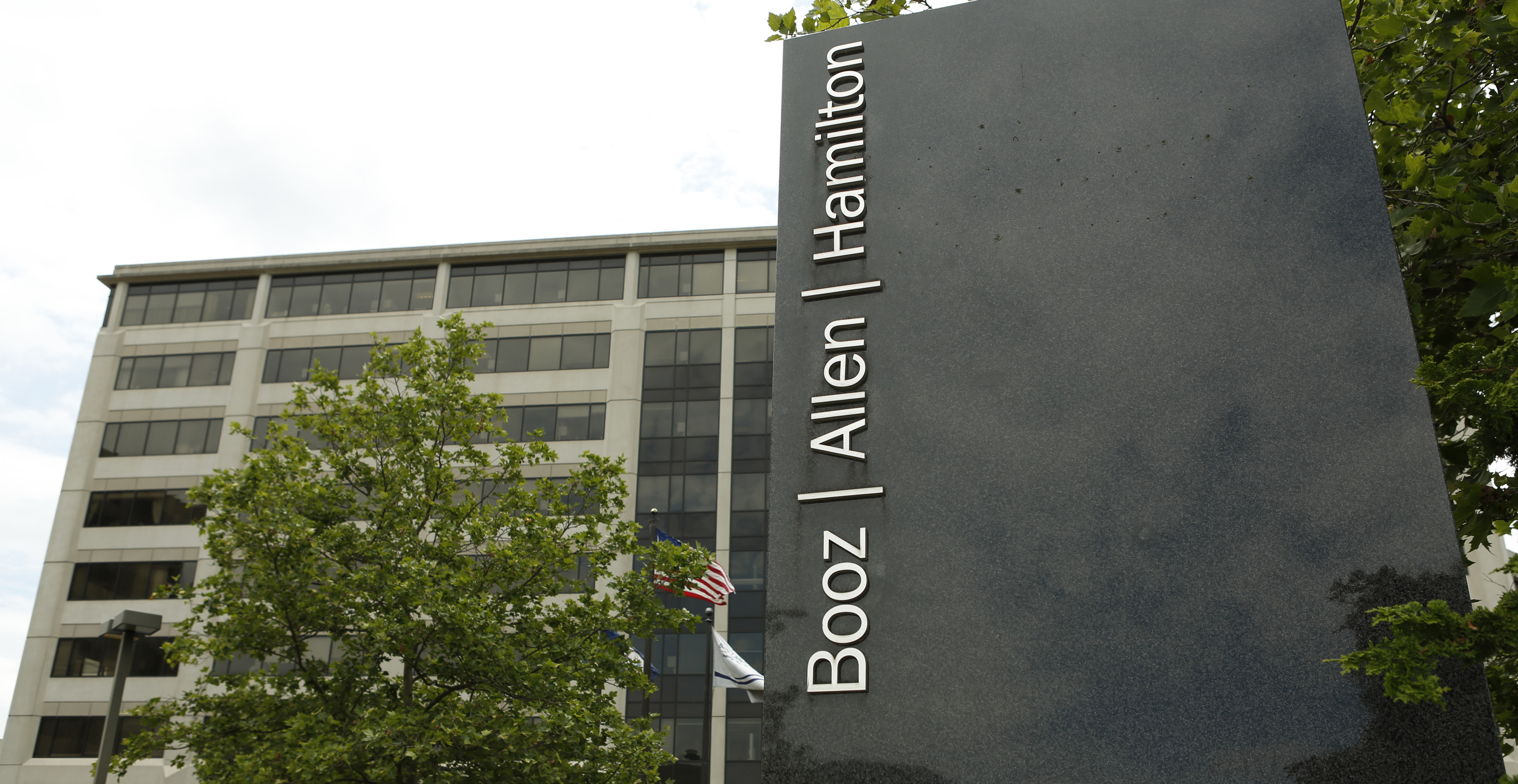 The Booz Allen Hamilton Holding Corp office building in McLean, Virginia, June 11, 2013