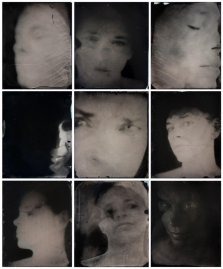 Sally Mann Untitled (Self-Portraits), 2012. Unique collodion wet-plate positives on metal, with sandarac varnish.