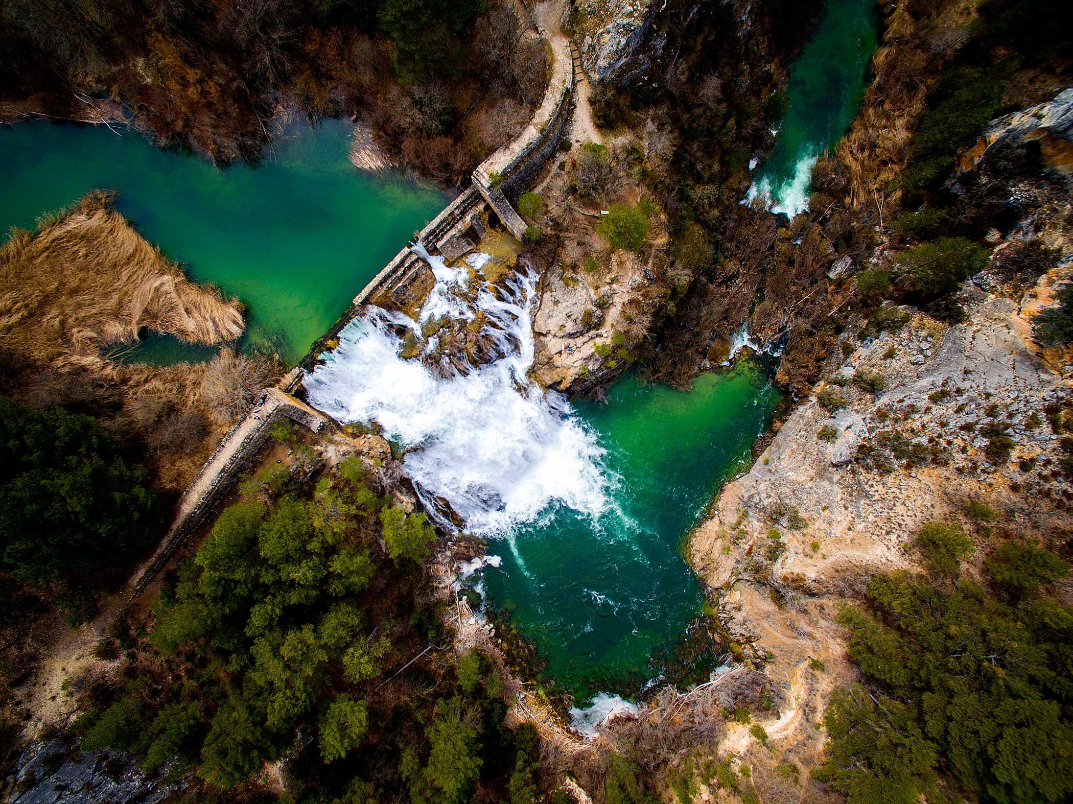 Salto de Poveda in Alto Tajo National Park in Guadalajara, Spain