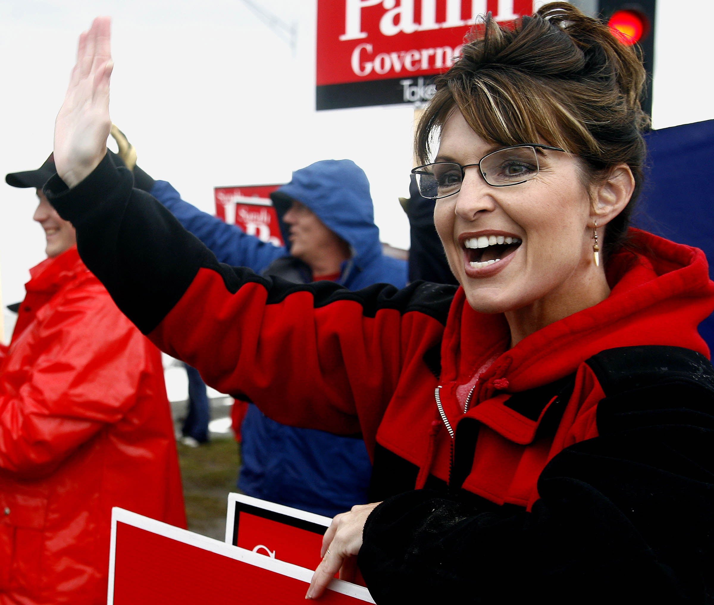 Sarah Palin campaigns for the Republican gubernatorial nomination in the primary election Tuesday, Aug. 22, 2006.