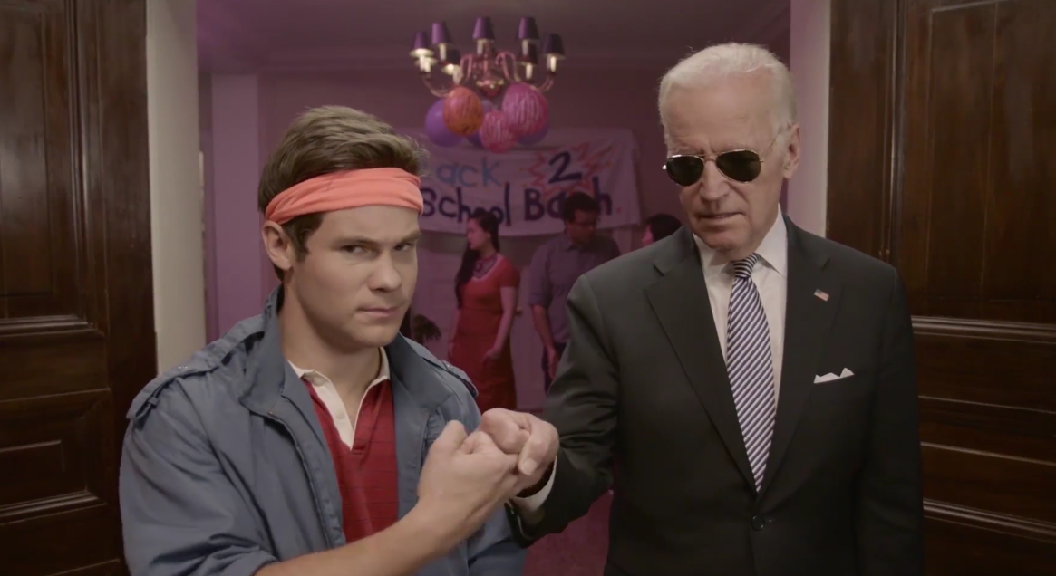 Adam Devine and Vice President Biden on Funny or Die.