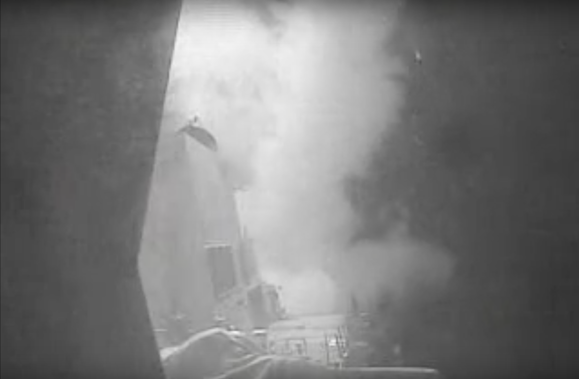 The destroyer USS Nitze launches a Tomahawk cruise missile against a radar site in Yemen.
