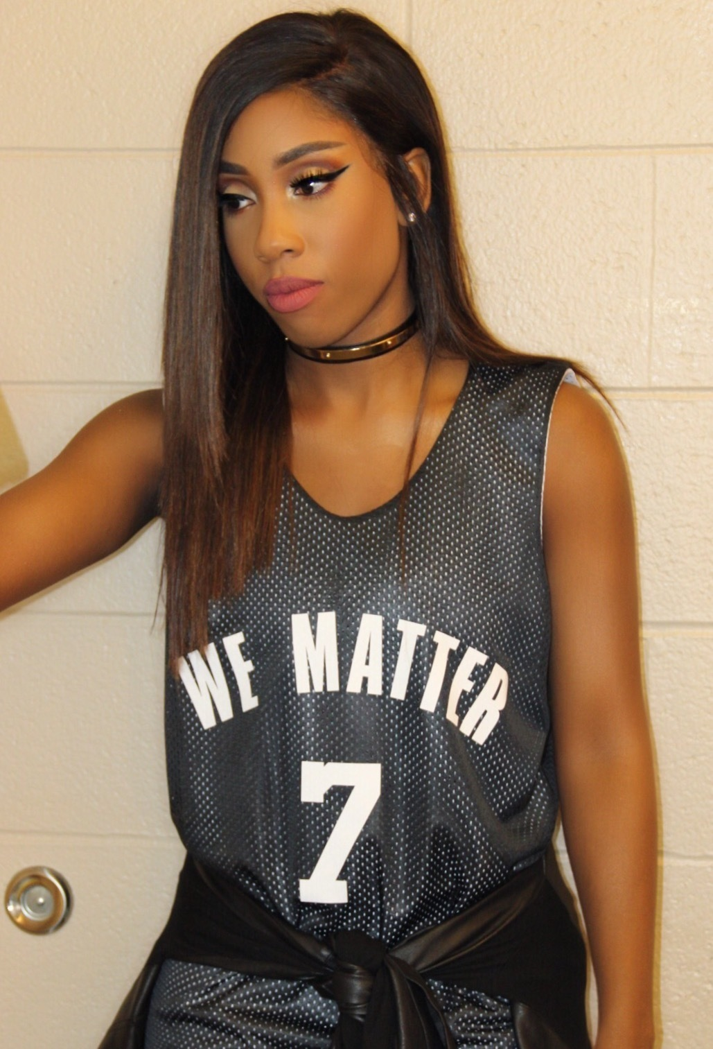 This photo provided by Atlantic Records shows Sevyn Streeter at an arena for an NBA basketball game between the Philadelphia 76ers and Oklahoma City Thunder in Philadelphia on Oct. 26, 2016.