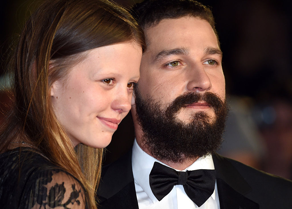 Mia Goth and Shia LaBeouf attend the closing night Gala screening of  Fury  during the 58th BFI London Film Festival at Odeon Leicester Square in London on Oct. 19, 2014.