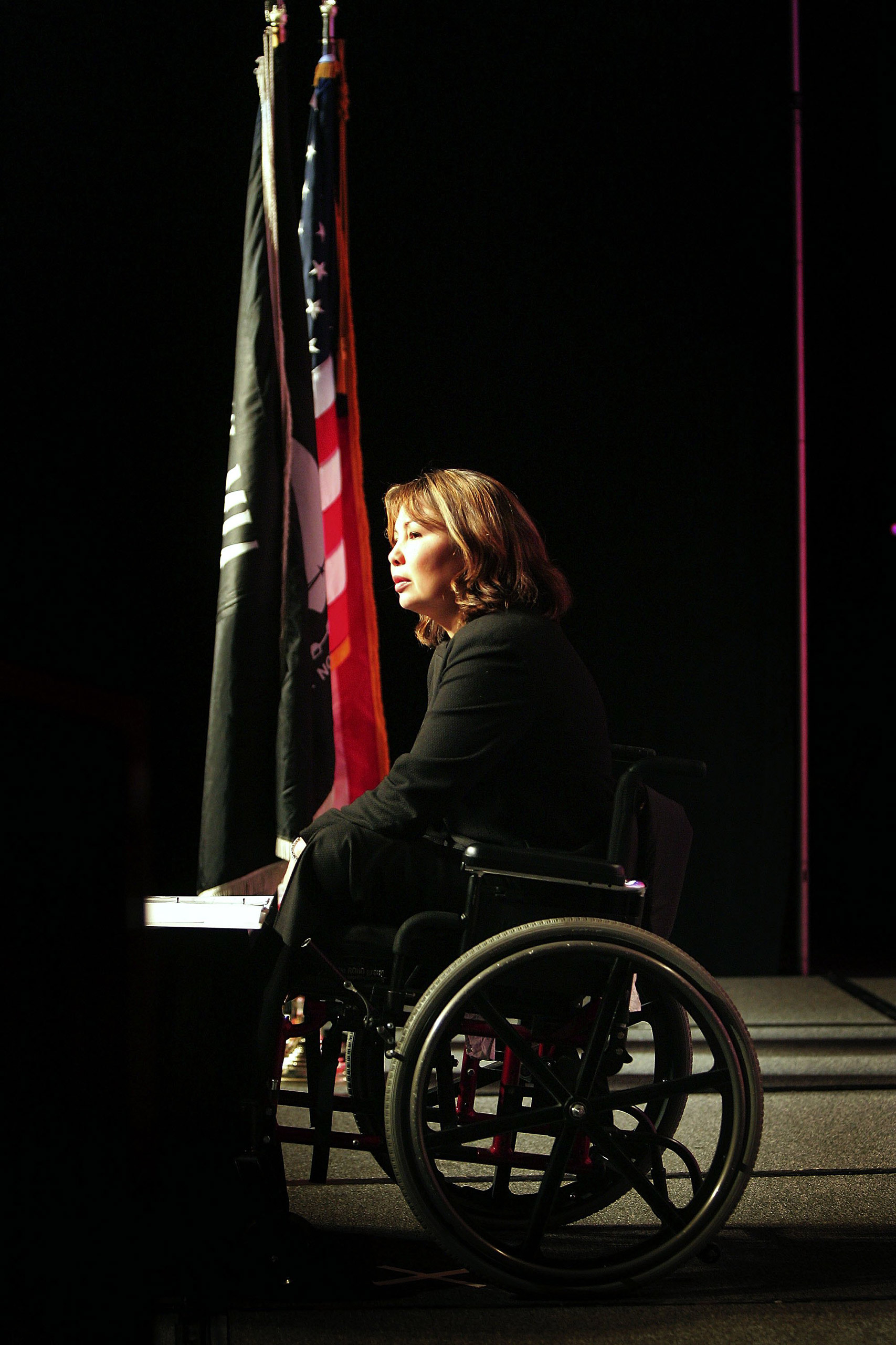 Tammy Duckworth speaks to the National Symposium for the Needs of Young Veterans hosted by AMVETS October 19, 2006 in Chicago, Illinois.
