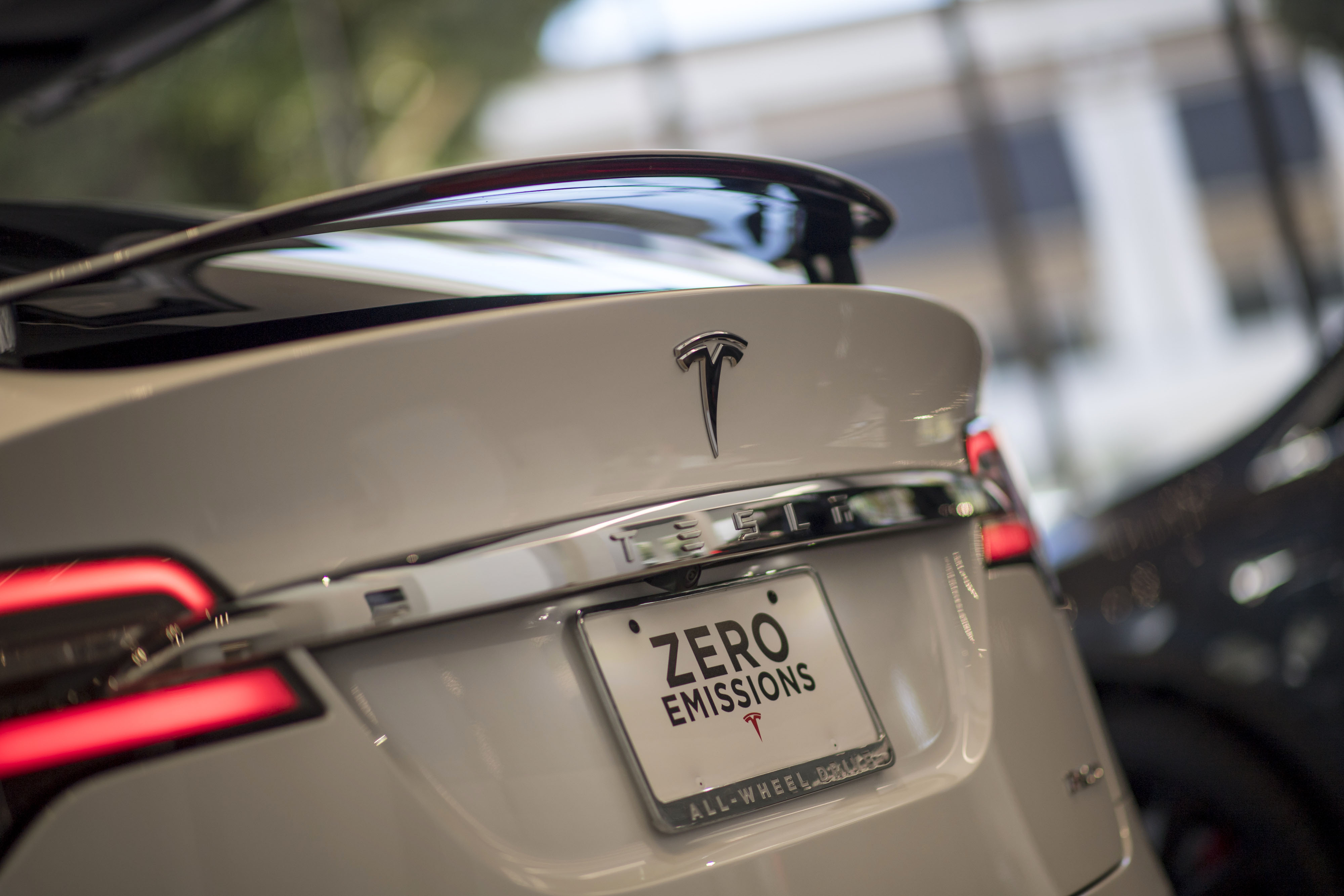 A Tesla Motors Inc. Model S vehicle is displayed at the company's new showroom in San Francisco, California, U.S., on Wednesday, Aug. 10, 2016.