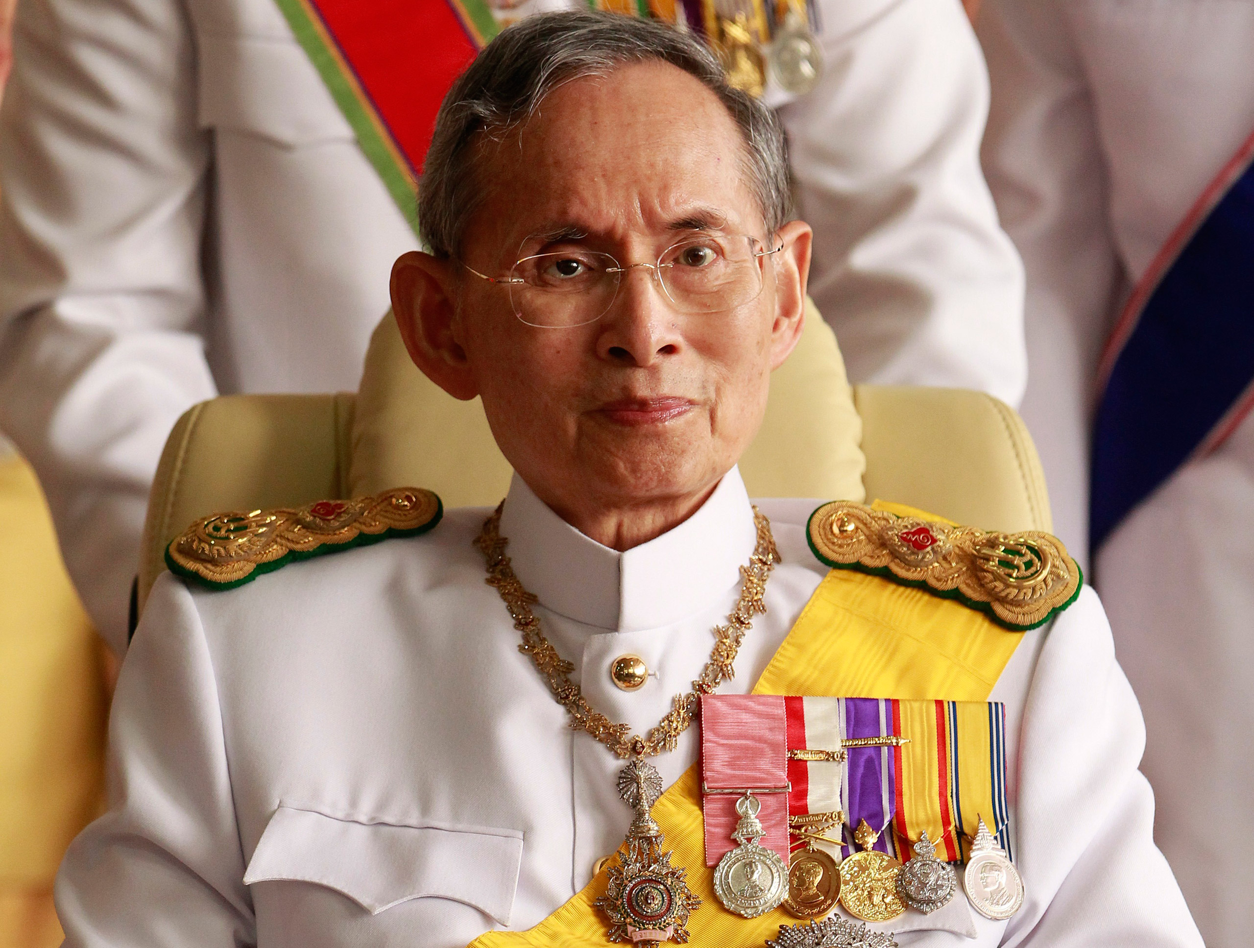 Thailand's King Bhumibol Adulyadej, who was the world's longest-reigning monarch, pictured in 2010 just before his 83rd birthday