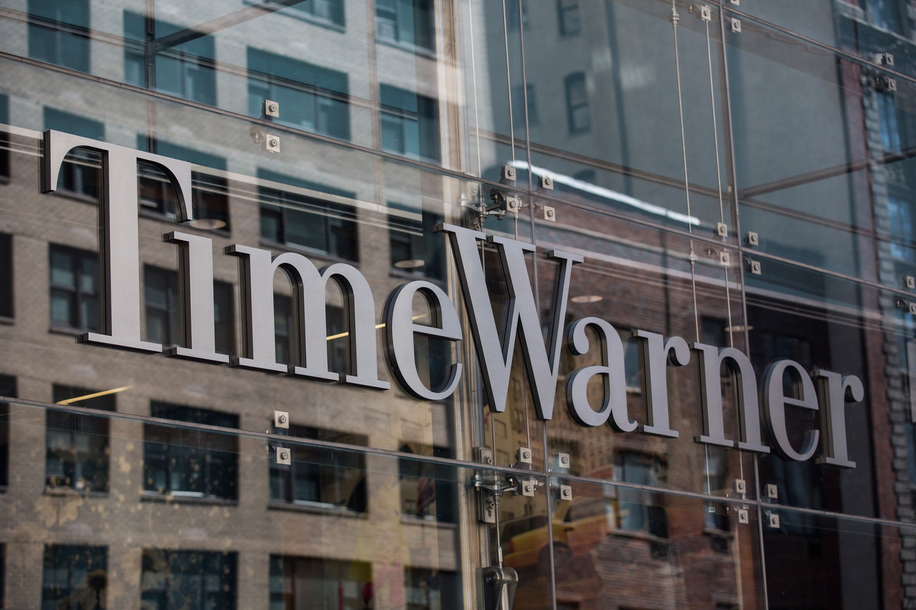 Time Warner Cable headquarters are seen in Columbus Circle on May 26, 2015 in New York City.