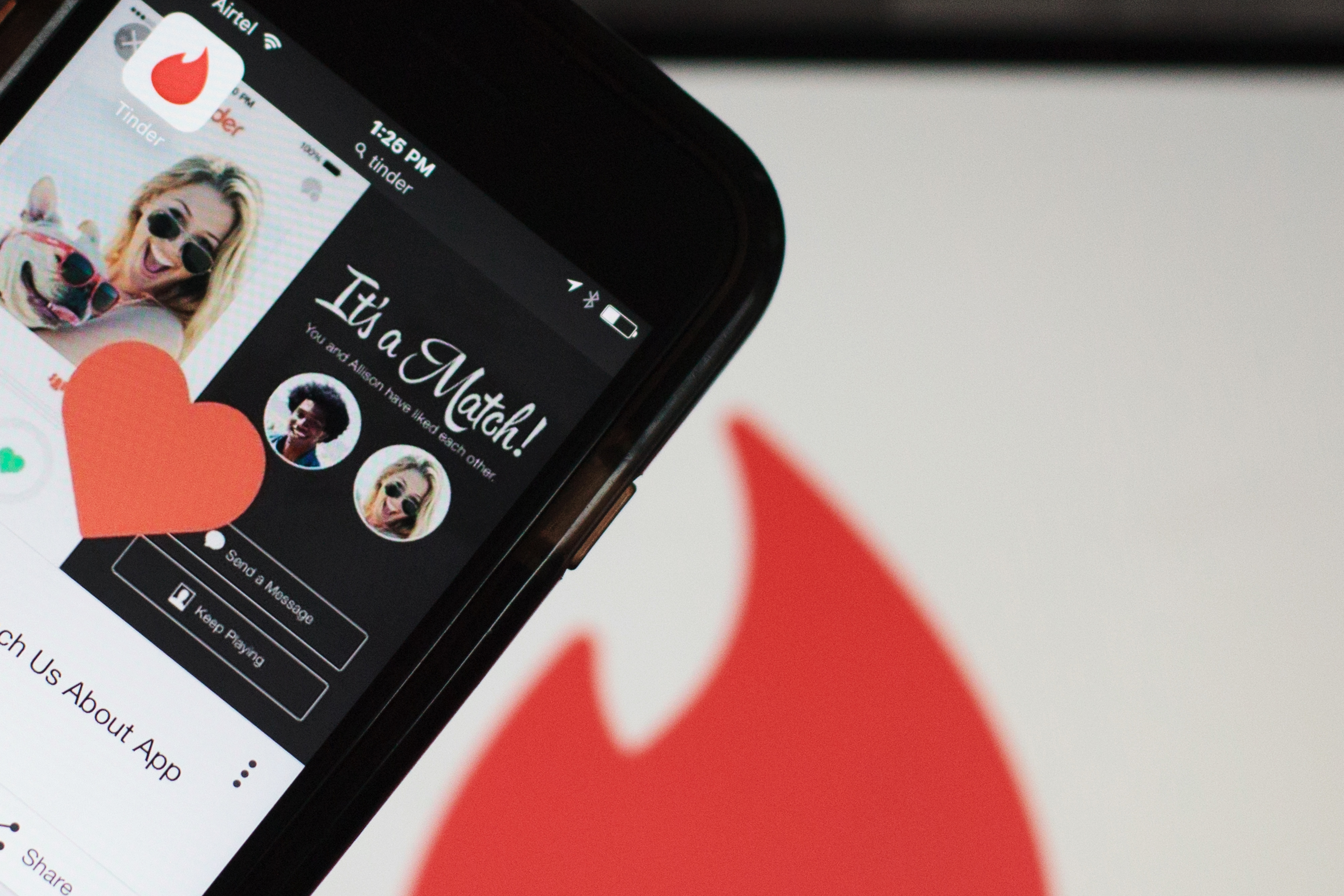 The Tinder Inc. application is displayed on a smartphone in an arranged photograph in New Delhi, India, on Friday, July 29, 2016.