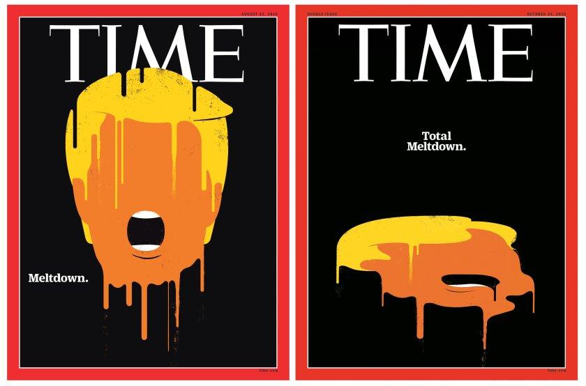 Total Meltdown Donald Trump Time Magazine Comparison covers