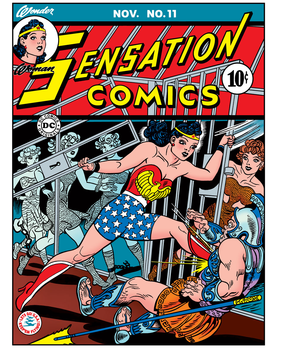 1942: Wonder Woman's costume was a matter of debate from the start. Her hemline traveled up and down with the times—and her editors.
