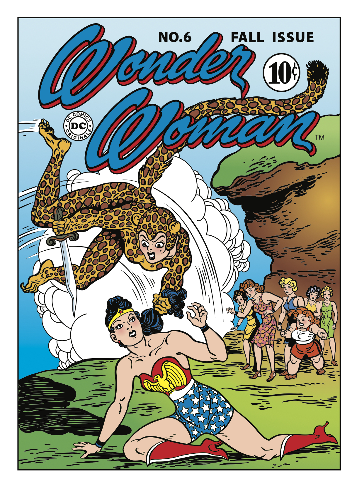 1943: Wonder Woman faces off against her nemesis, Cheetah.