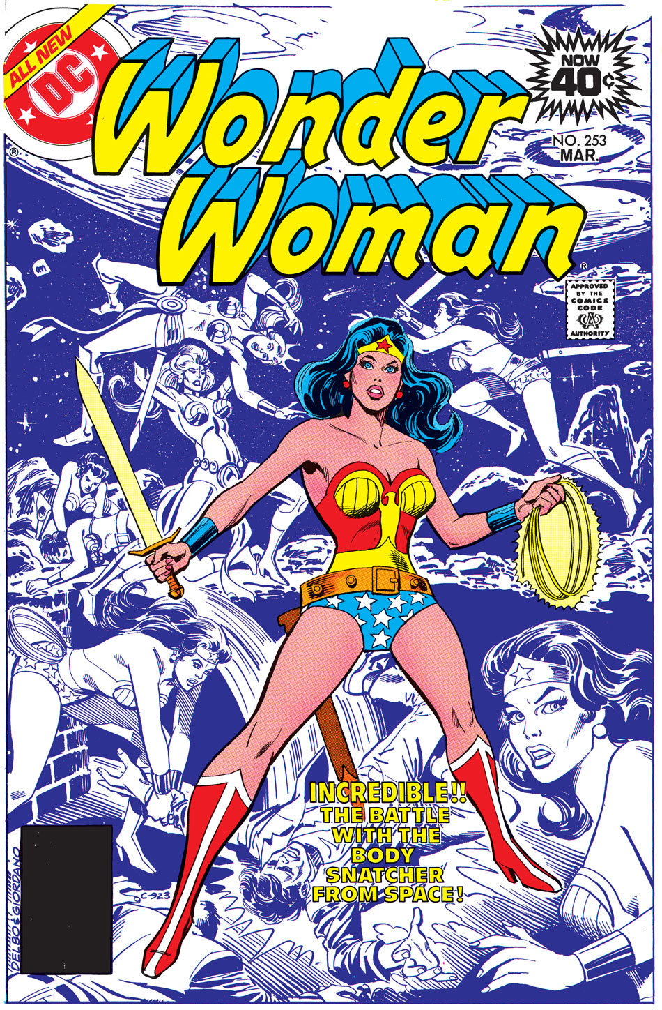1979: In the 1970s, Wonder Woman grows in popularity thanks to the television show starring Lynda Carter.