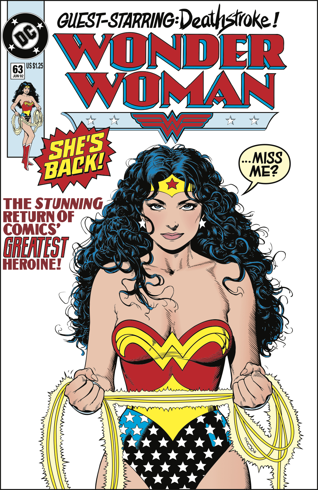1992: Comics go sexy in the 1990s. Wonder Woman is no exception.