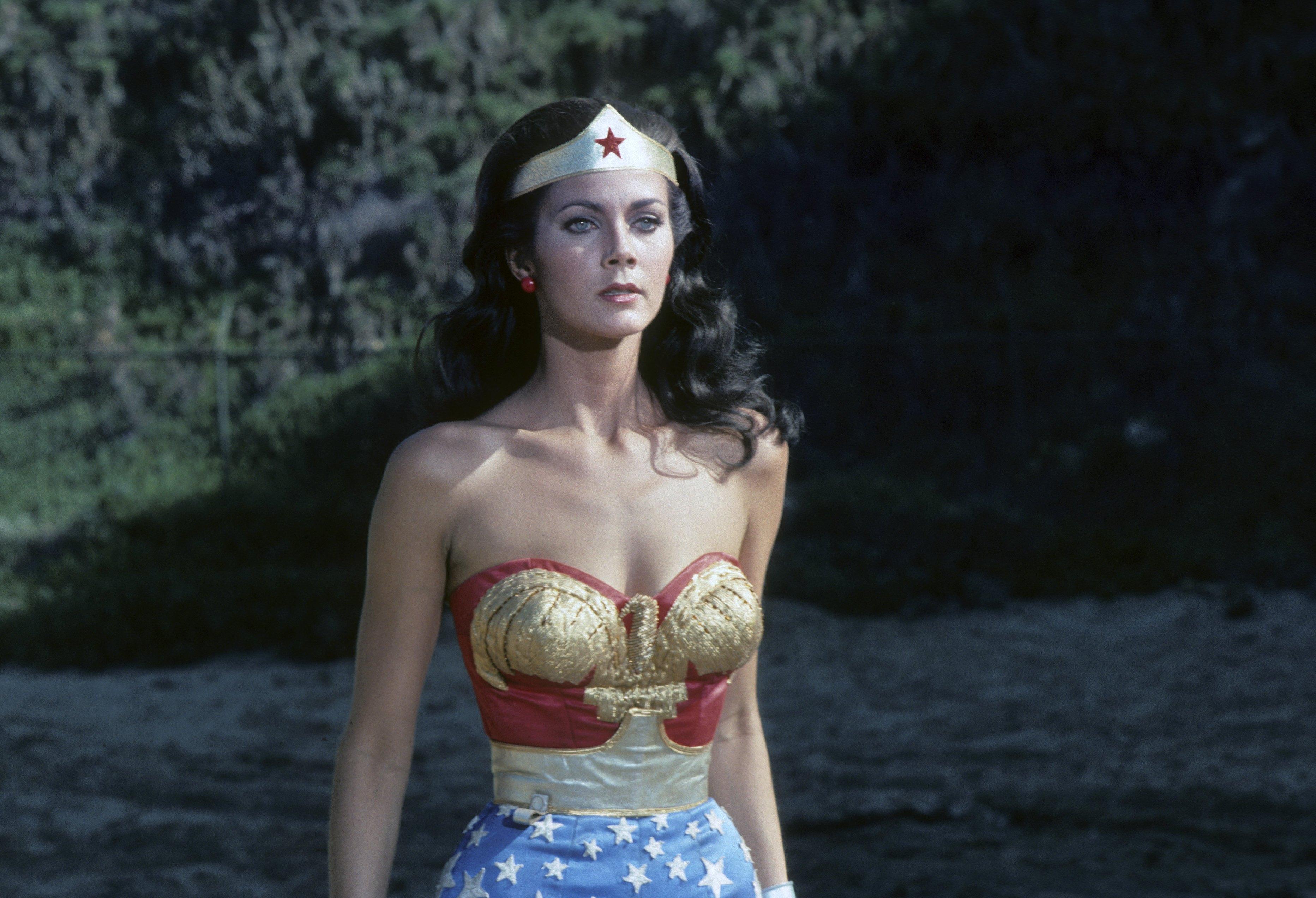 Lynda Carter as Wonder Woman on January 22, 1977.