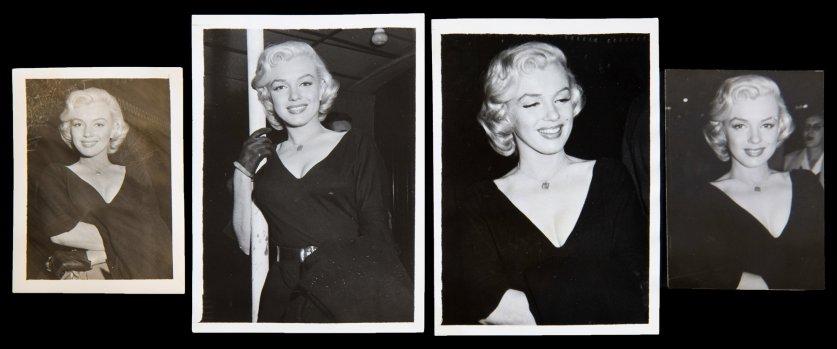 Marilyn Monroe circa 1953 at La Rue Restaurant.
