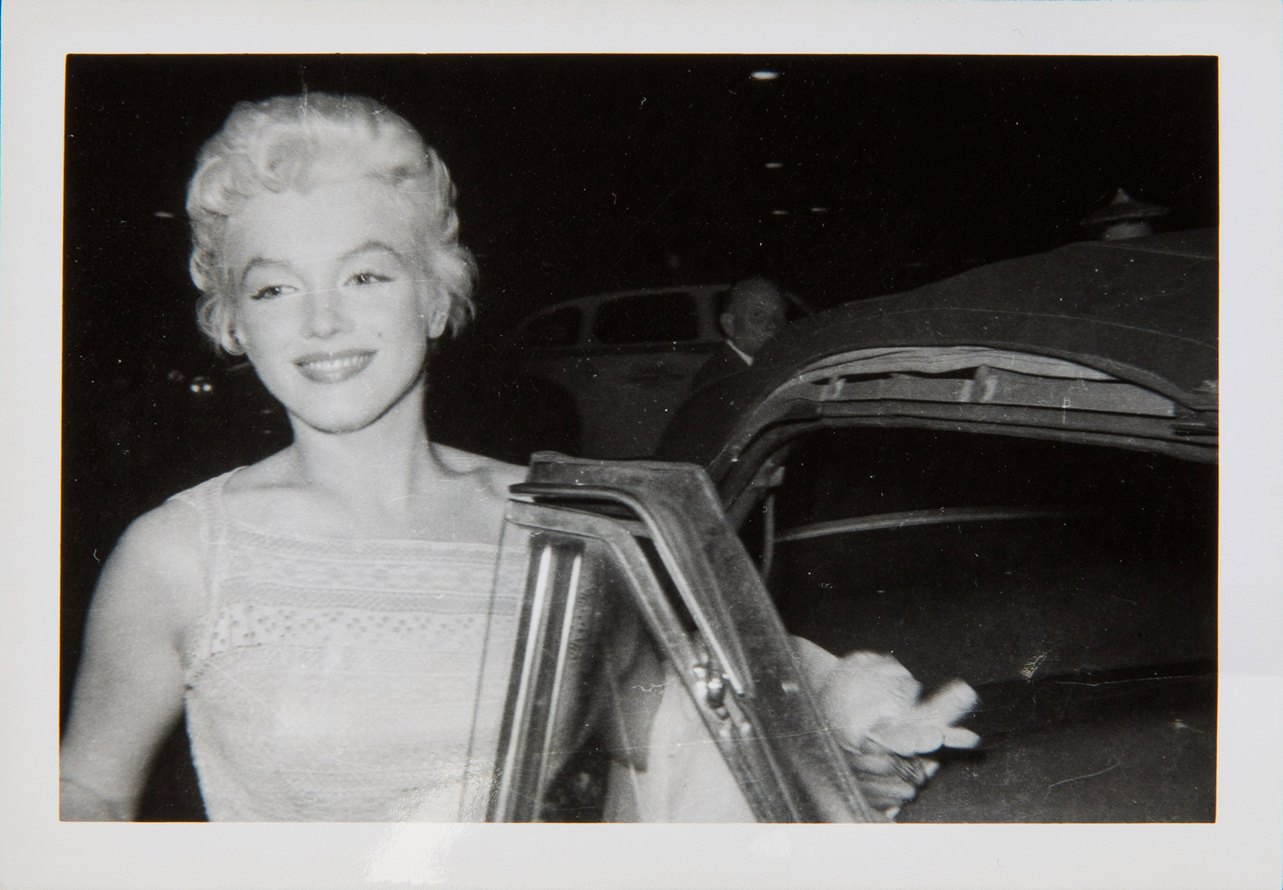 Marilyn Monroe in 1955, possibly going to a birthday party for Elia Kazan on September 7.