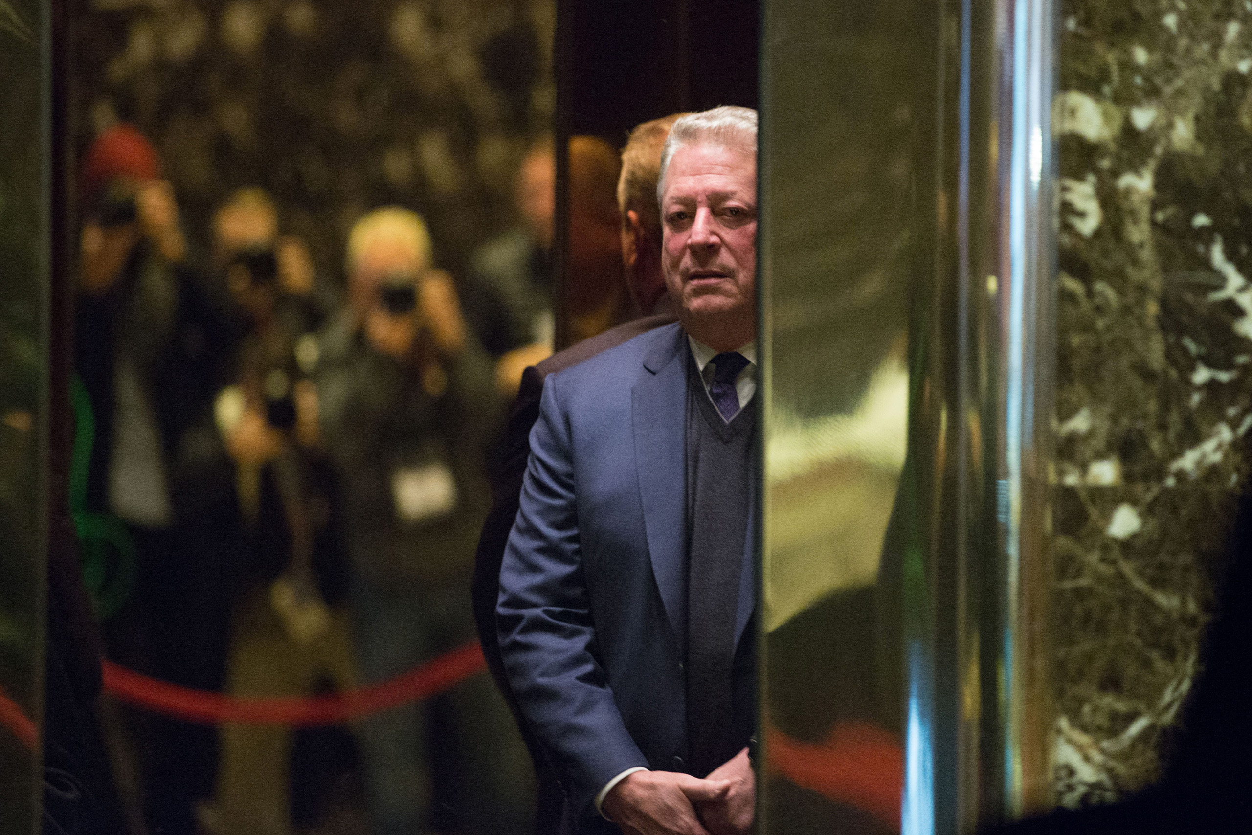Former Vice President Al Gore arrives at Trump Tower on Dec. 5, 2016.