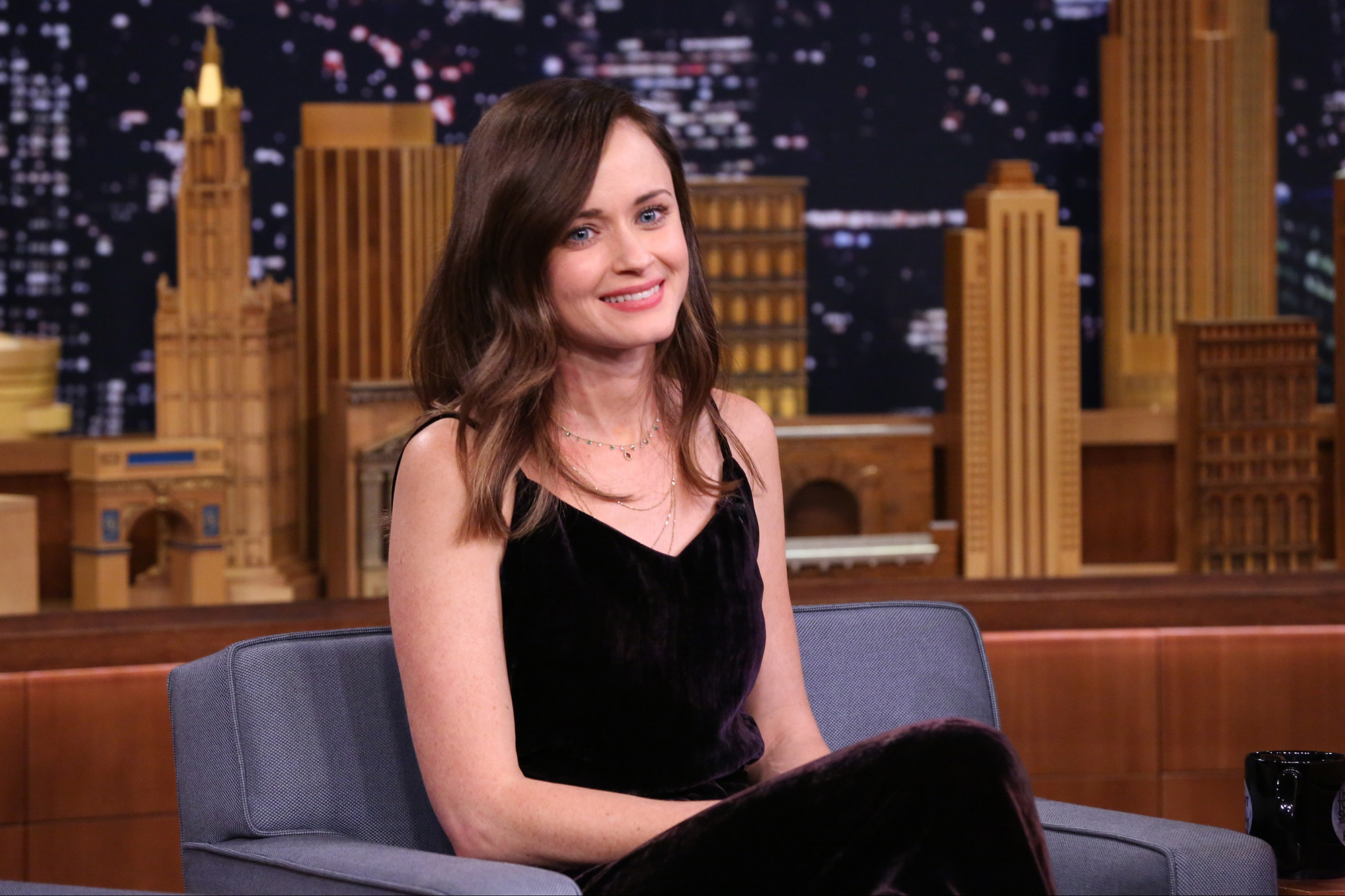 Alexis Bledel during an interview on November 28, 2016 -- (Photo by: Andrew Lipovsky/NBC/NBCU Photo Bank via Getty Images)
