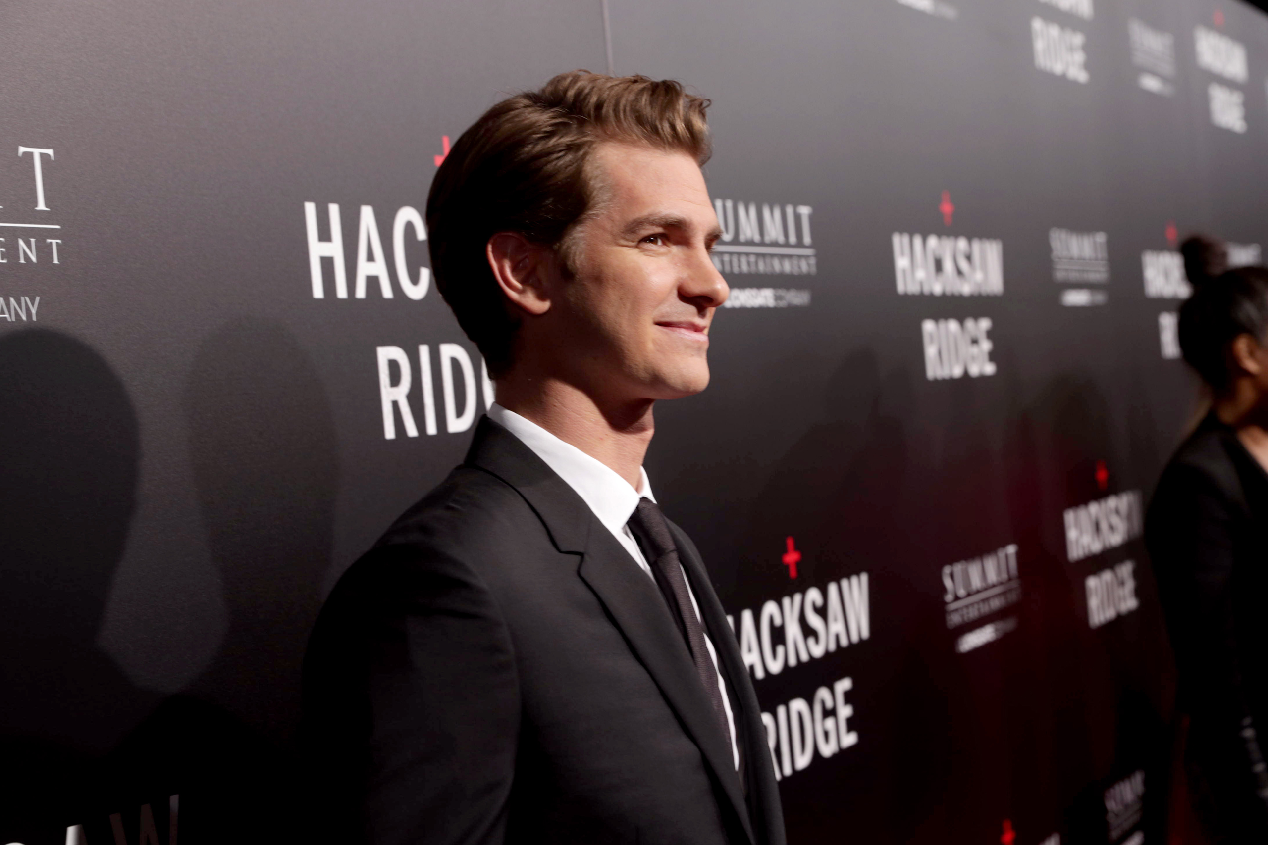 Andrew Garfield seen at Summit Entertainment, a Lionsgate Company, Los Angeles Special Screening of  Hacksaw Ridge  at The Academy's Samuel Goldwyn Theater, on Oct. 24, 2016.