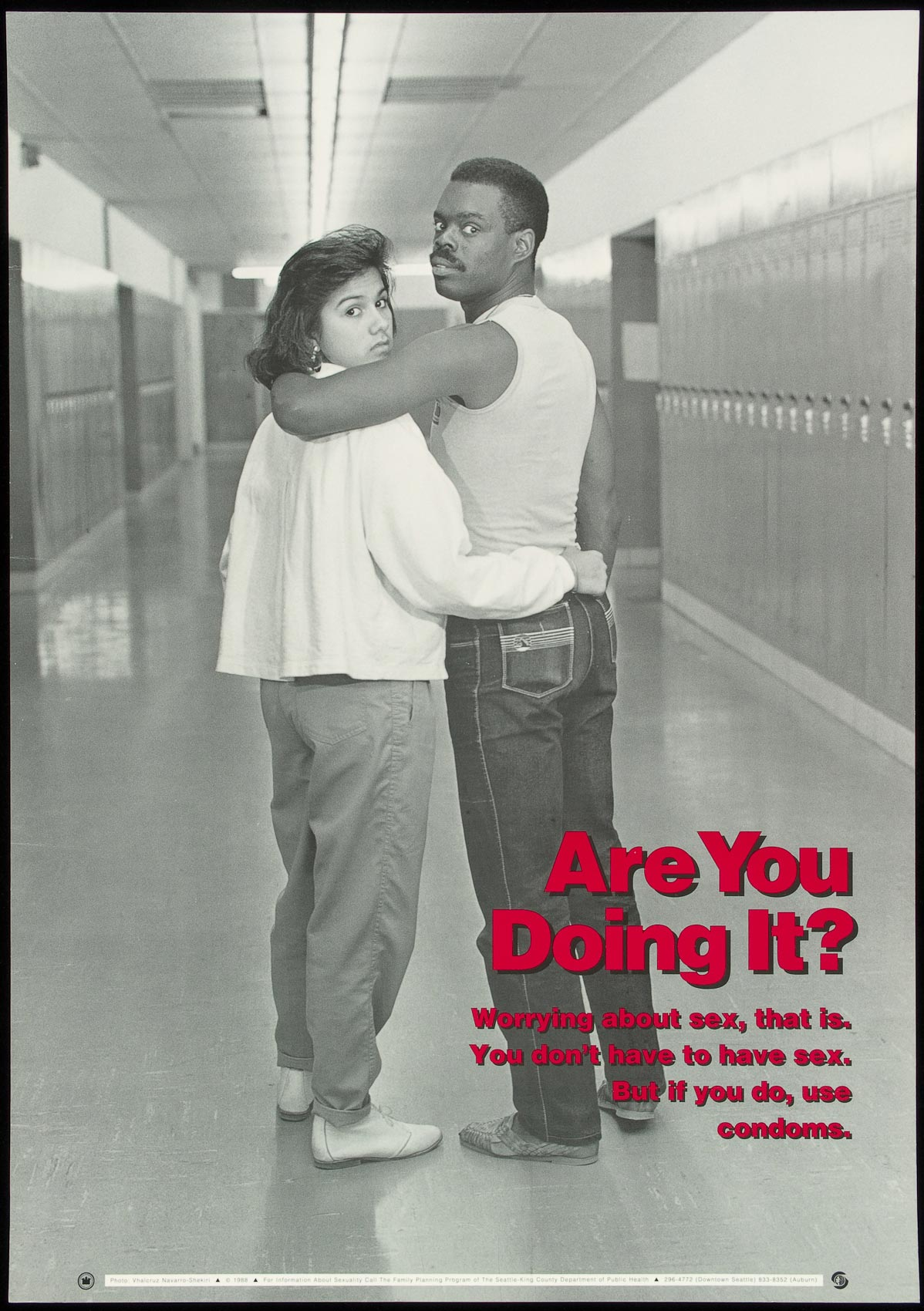 A 1988 poster produced by the Seattle-King County Dept. of Public Health