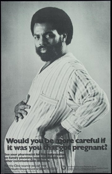 1986 AIDS Education Poster - Pregnant Man