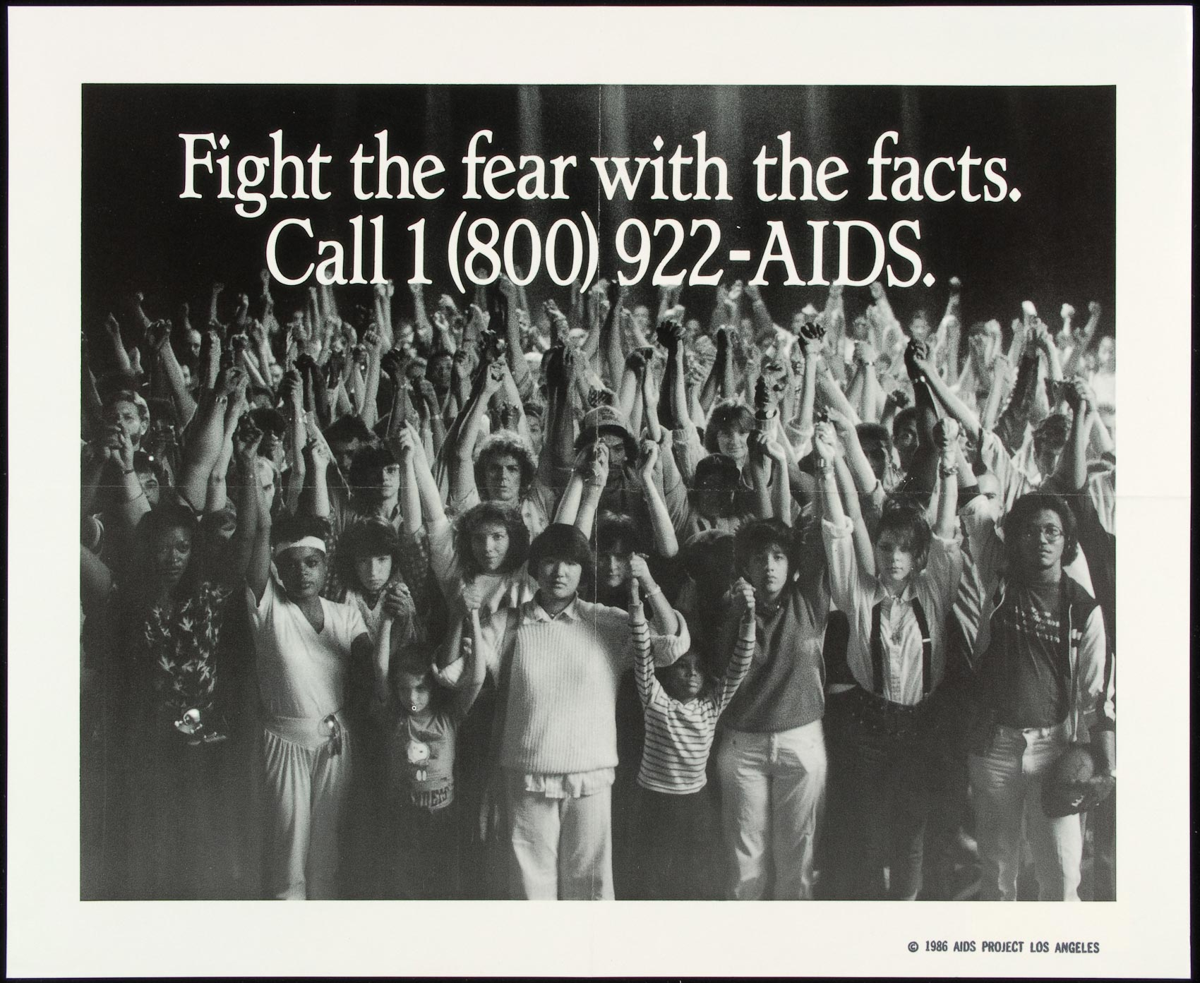 A 1986 poster produced by APLA in California.