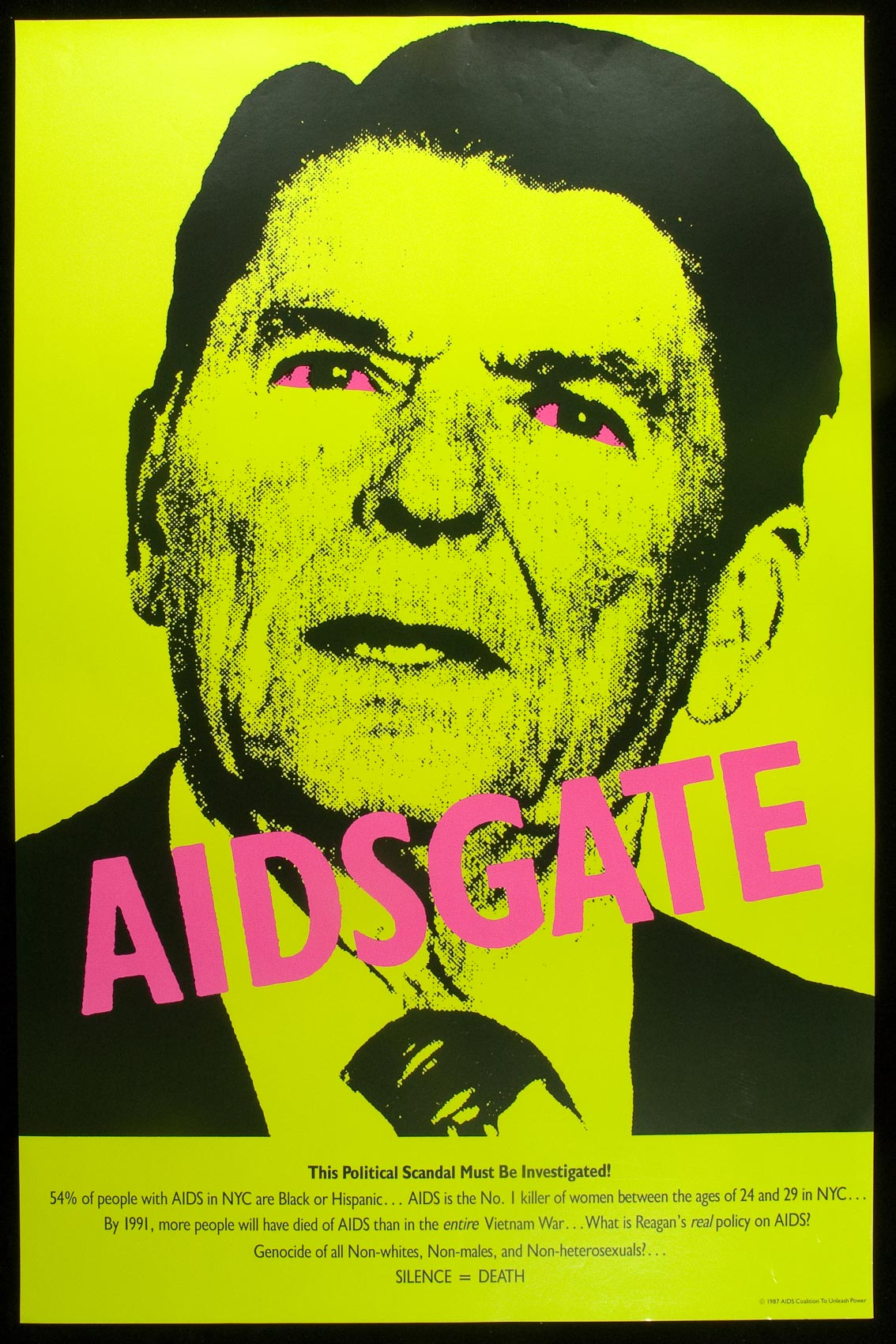 A 1987 poster made by the advocacy group ACT UP.