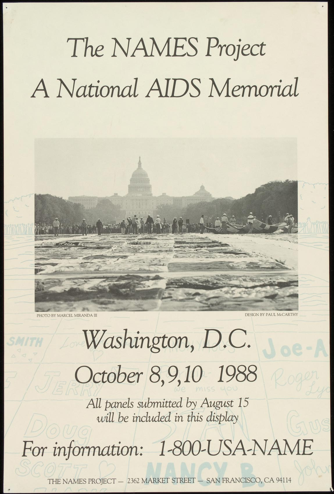 A 1988 poster made by the NAMES Project, based in San Francisco