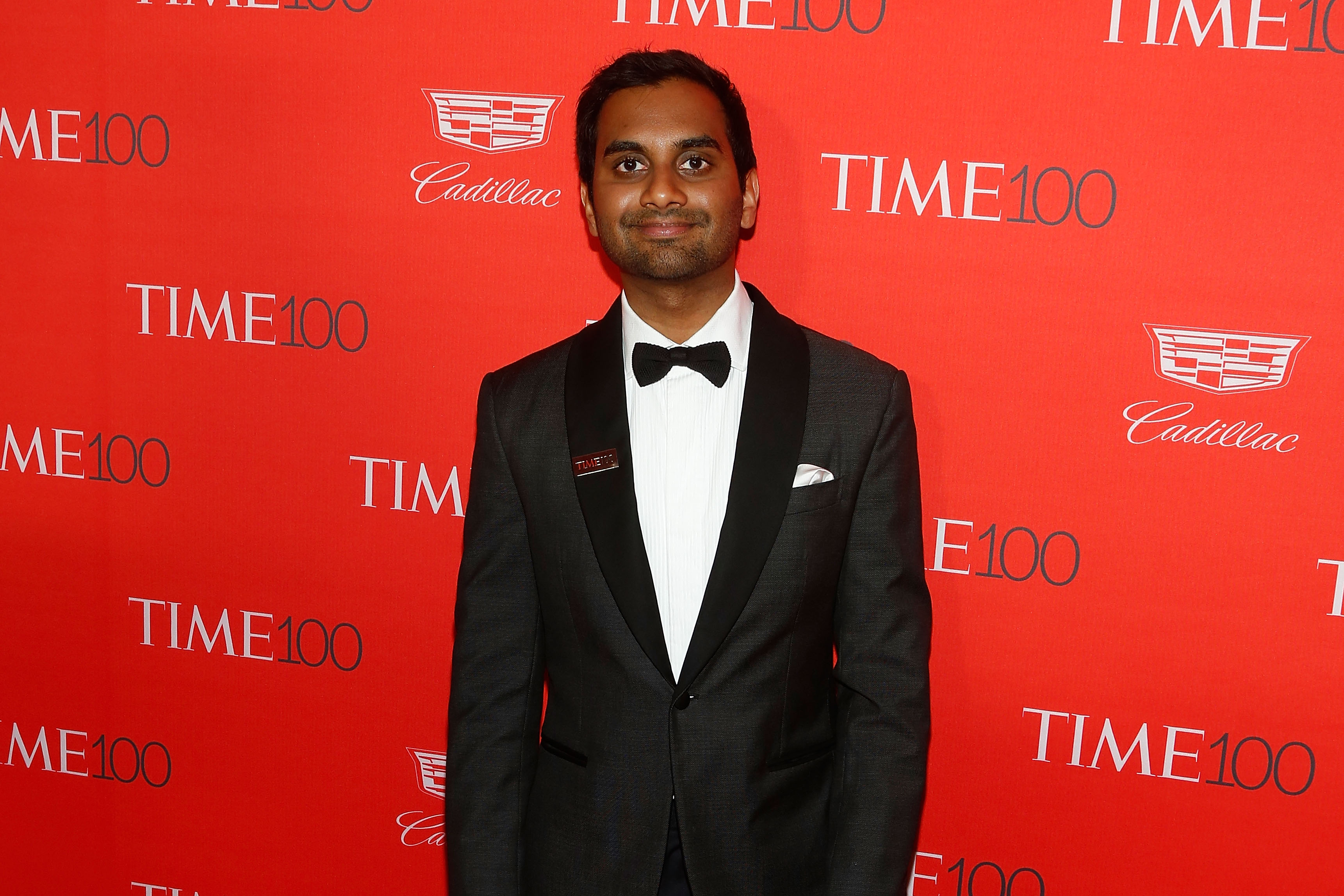Comedian Aziz Ansari attends the 2016 Time 100 Gala at Lincoln Center on April 26, 2016 in New York City.