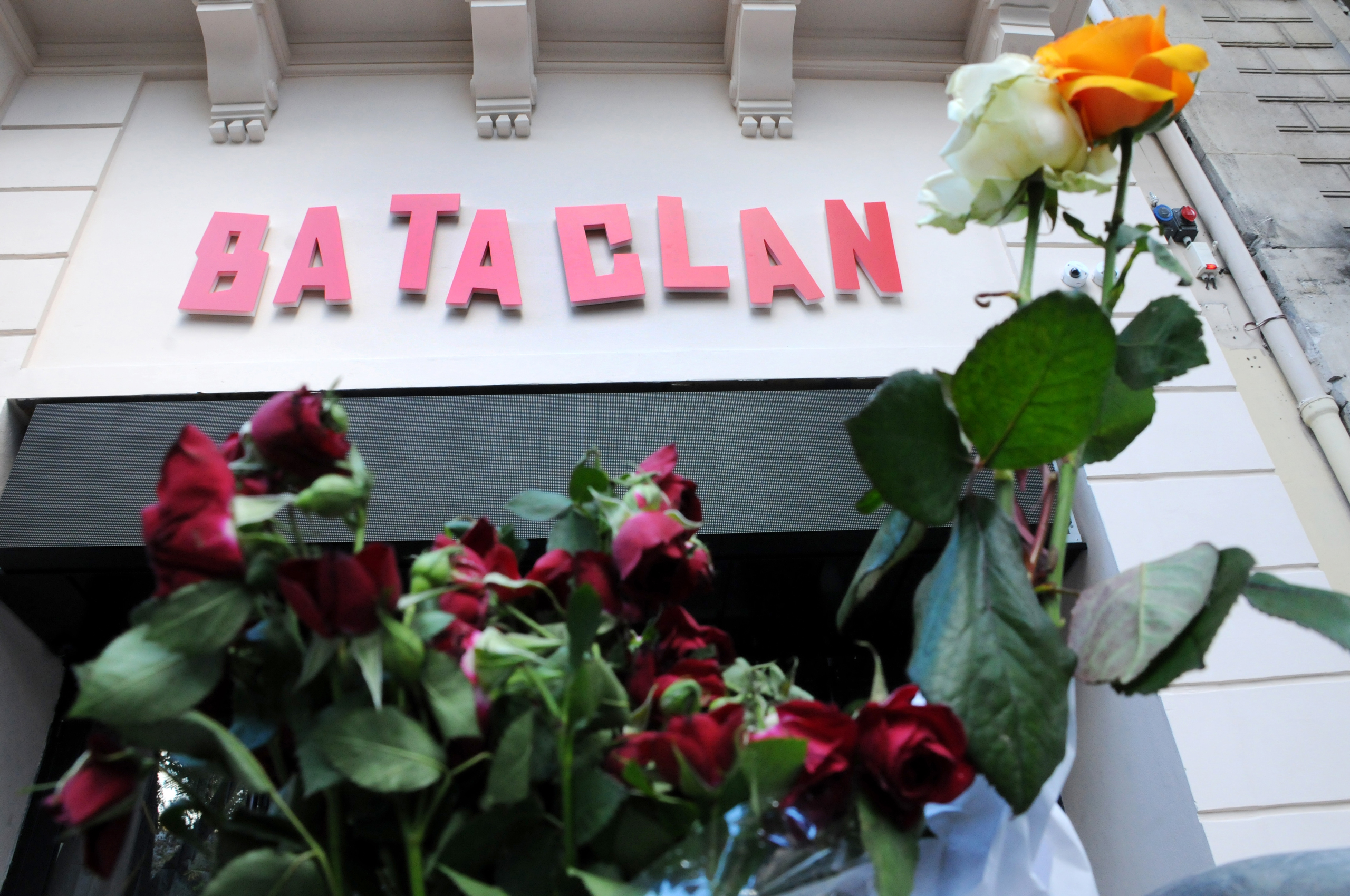 The new facade of the Bataclan concert hall, one of the targets of the November 13, 2015 terrorist attacks in Paris, on Nov. 6, 2016.
