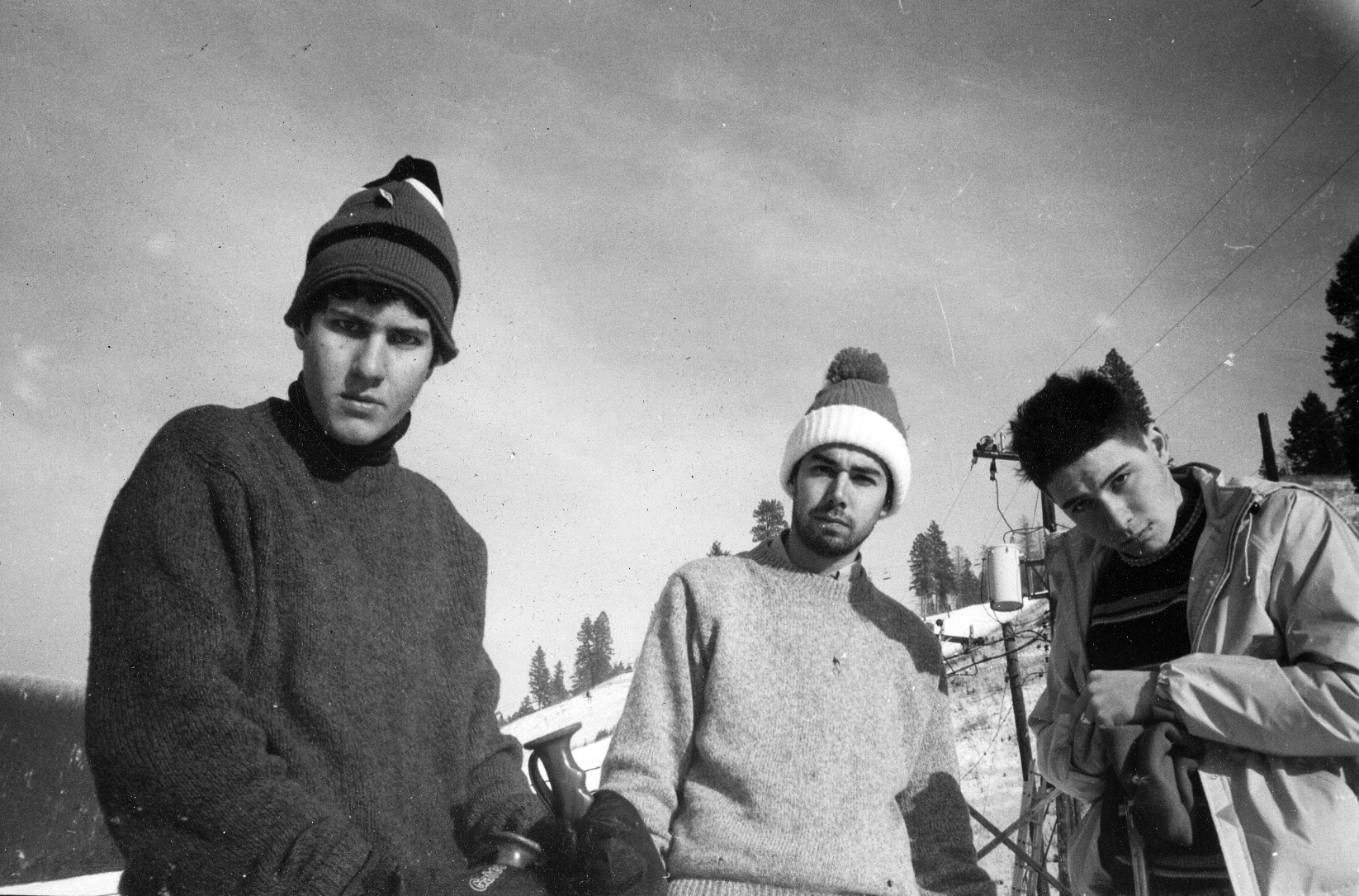 From left: Mike D, MCA and Ad-Rock on the first stop of their Licensed to Ill tour in Missoula, Mont., Jan. 1987.