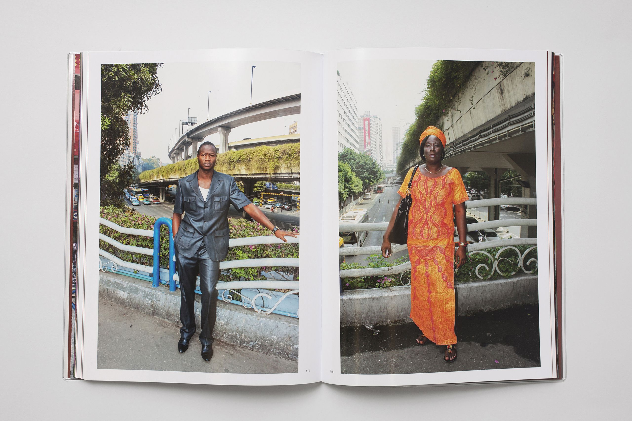 Selected by photographer Martin Parr:  On a bridge in Guangzhou, Daniel Traub encountered a Chinese photographer who specialized in taking portraits of Africans living in the city. Intrigued by this surreal combination, he photographed the surrounding streets and activity. In the book, he added folios of the portraits taken by Wu Yong Fu and Zeng Xian Fang, his collaborator. This, together with an interview with the photographers, contributes to one of the most surprising and engaging books of the year.""