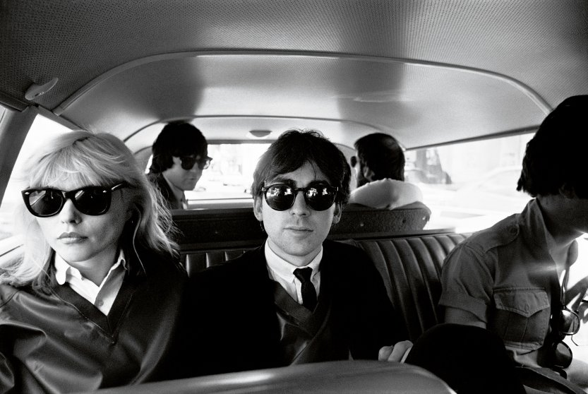 Blondie en route to Golden Gate Park's Conservatory of Flowers in San Francisco, 1977.