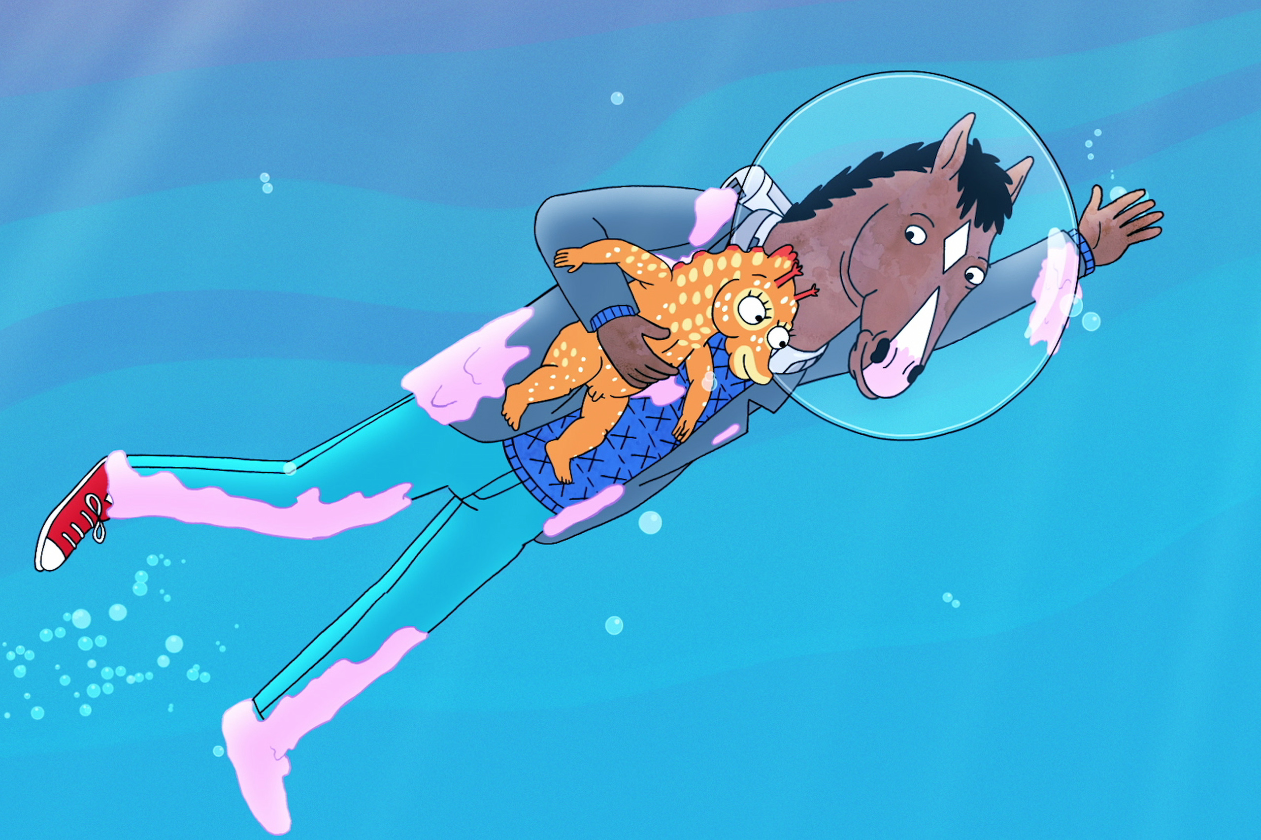 BoJack Horseman Season 3 premiering on Netflix on July 22, 2016. The series stars Will Arnett, Aaron Paul and Amy Sedaris. (Photo Netflix)