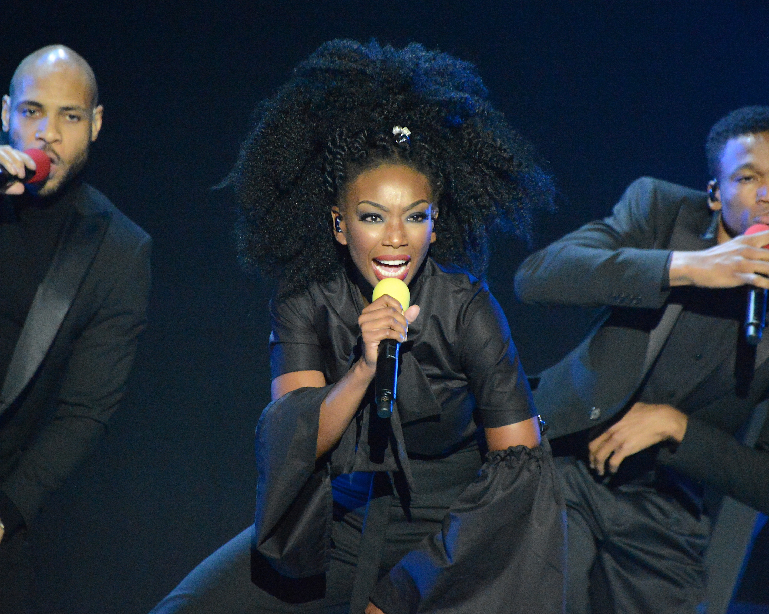 LAS VEGAS, NV - NOVEMBER 06:  Honoree Brandy performs onstage during the 2016 Soul Train Music Awards at the Orleans Arena on November 6, 2016 in Las Vegas, Nevada.  (Photo by Mindy Small/FilmMagic)