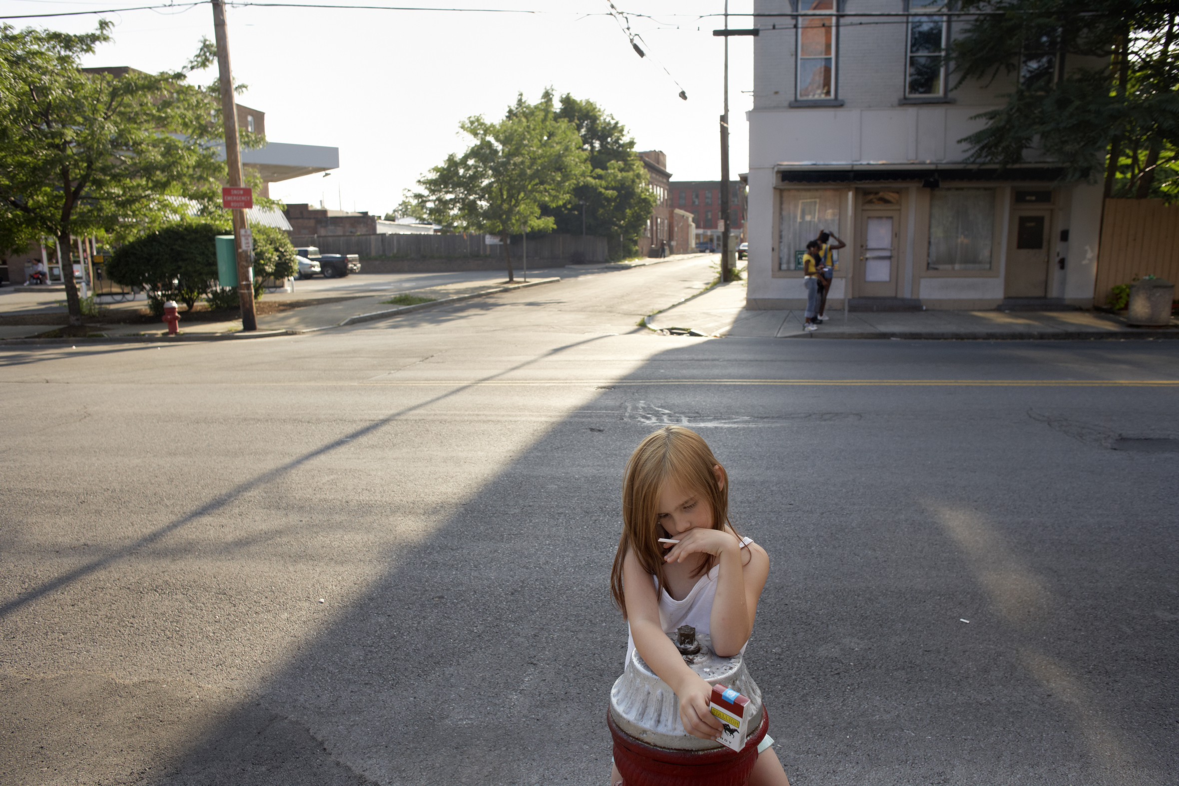 Katie and Candy Cigarette. Sixth Ave, North Troy, 2008.