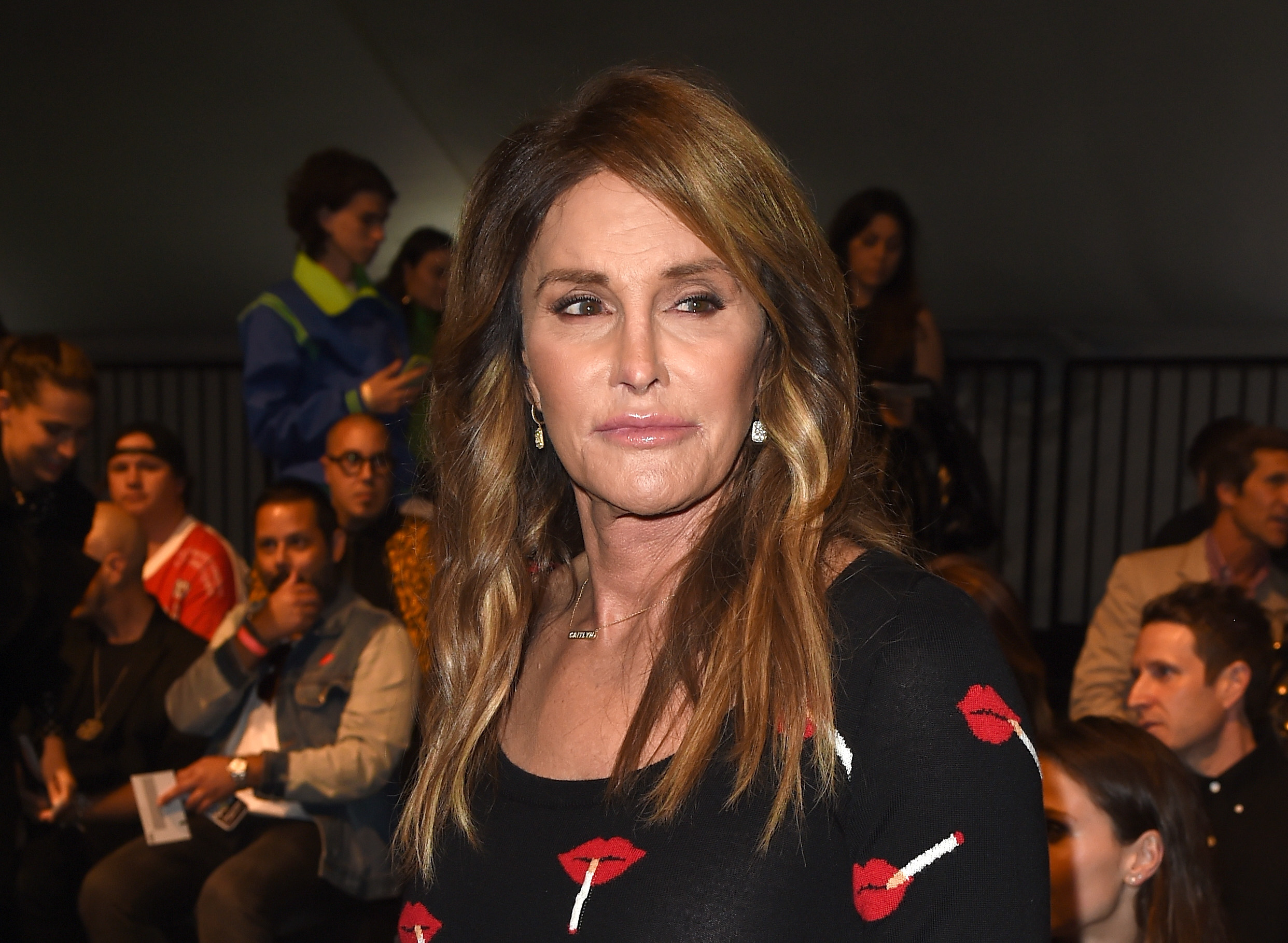 Caitlyn Jenner attends the Moschino Spring/Summer 17 Menswear and Women's Resort Collection during MADE LA at L.A. Live Event Deck on June 10, 2016 in Los Angeles, California.  (Photo by Kevin Winter/Getty Images)