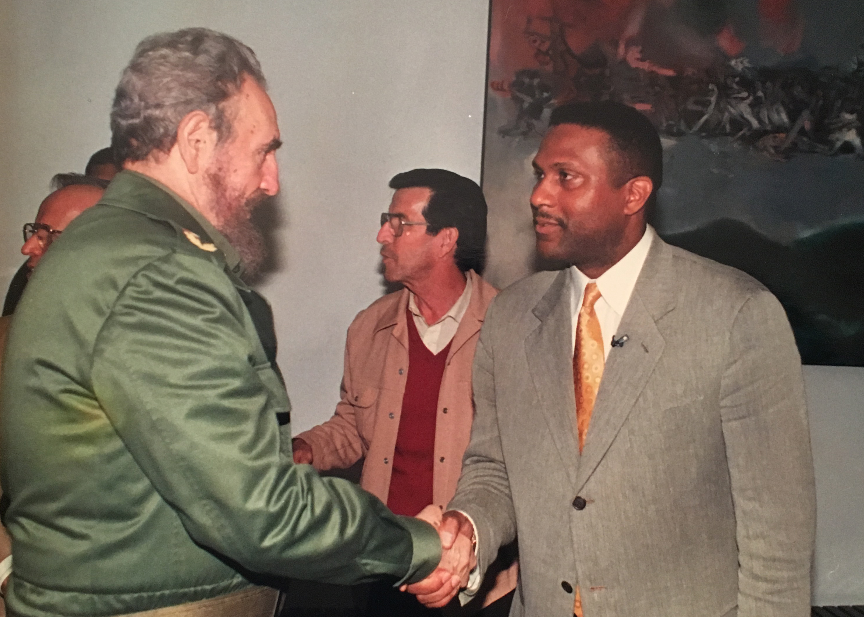 Fidel Castro and Tavis Smiley in Castro's office in Havana on Jan. 7, 1998.
