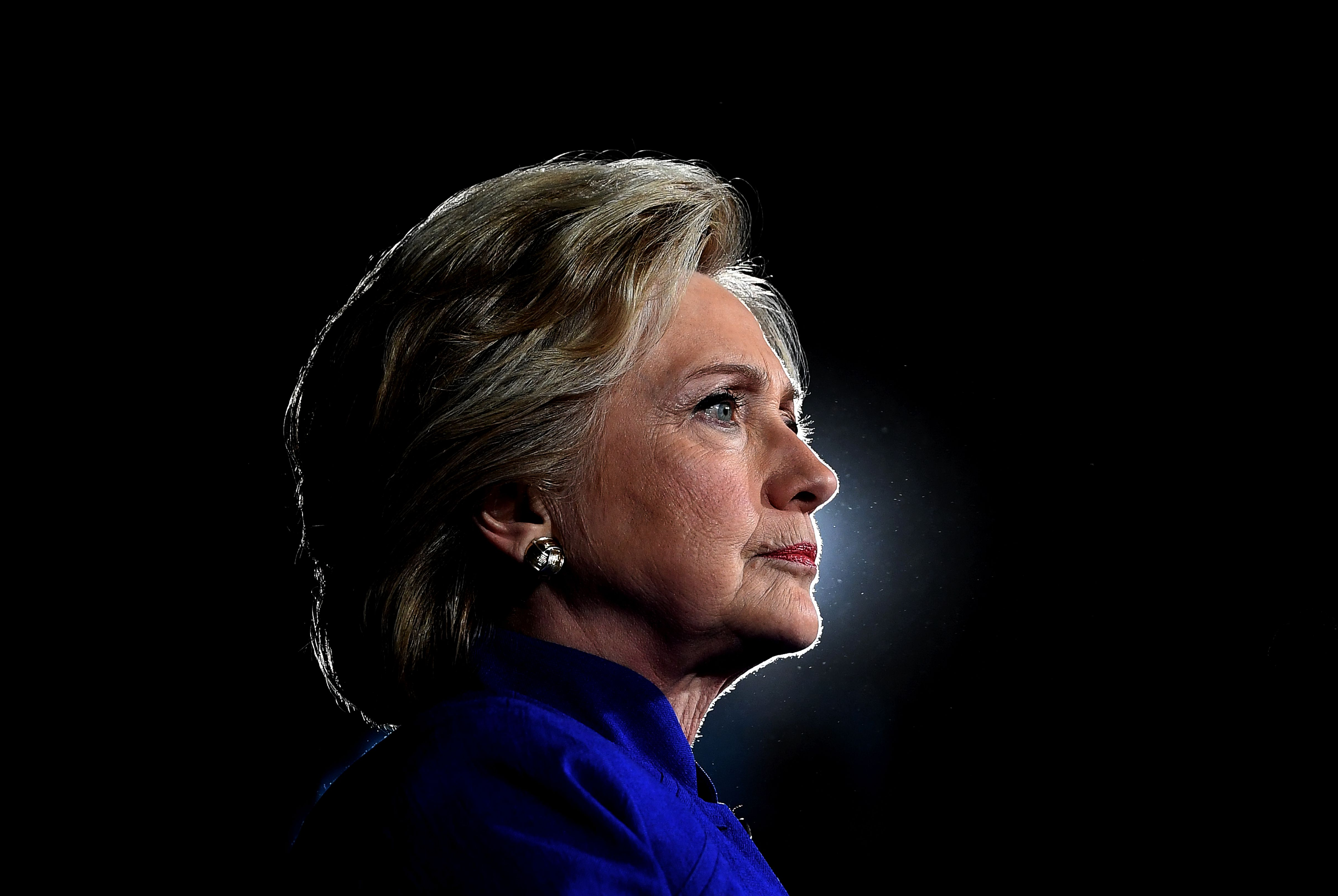 U.S. Democratic presidential nominee Hillary Clinton looks on during a campaign rally in Tempe, Ariz., on Nov. 2, 2016.