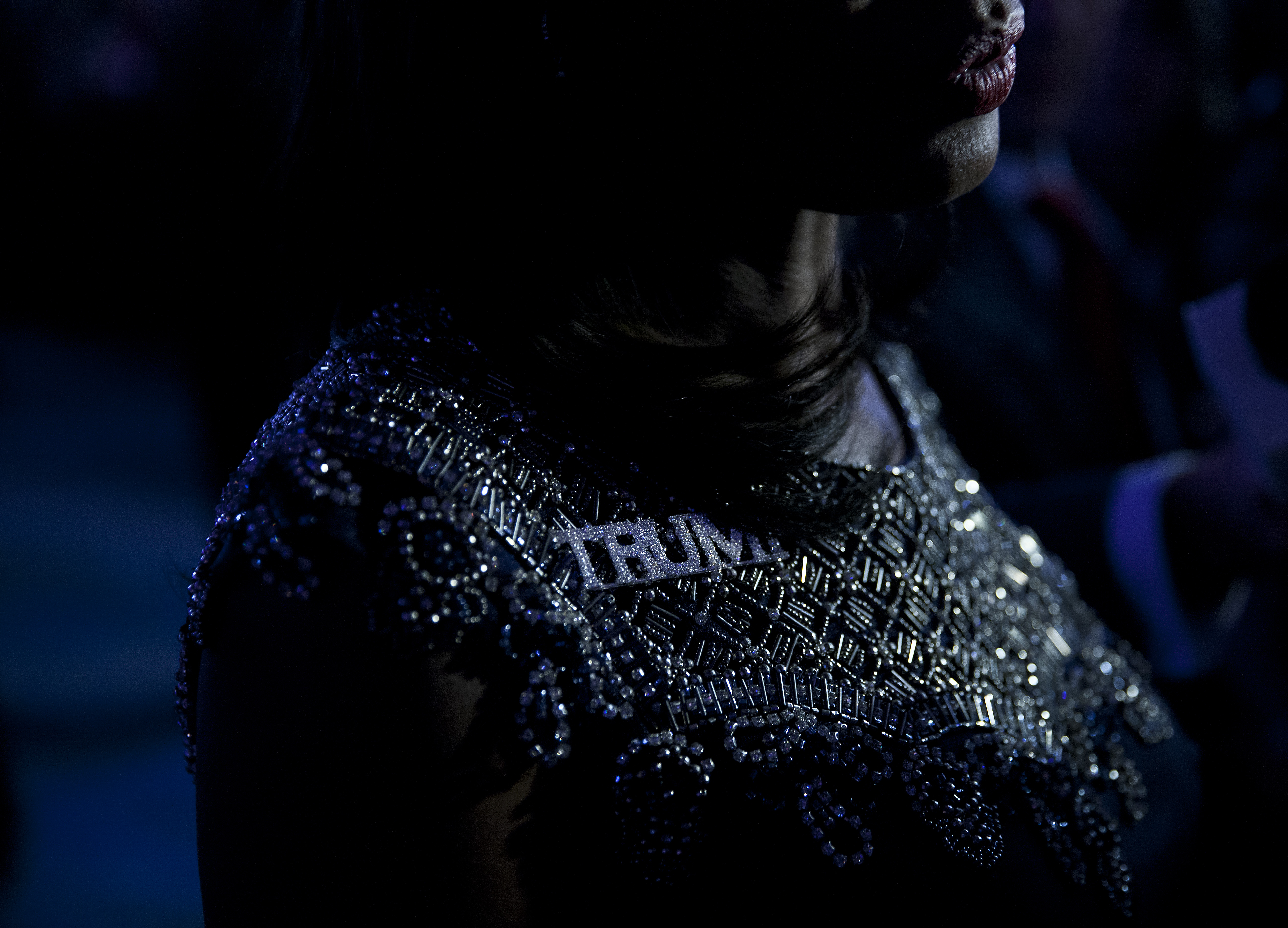 Omarosa Manigault at an election night party for Republican presidential candidate Donald Trump, on Nov. 8, 2016 in New York's Manhattan borough.