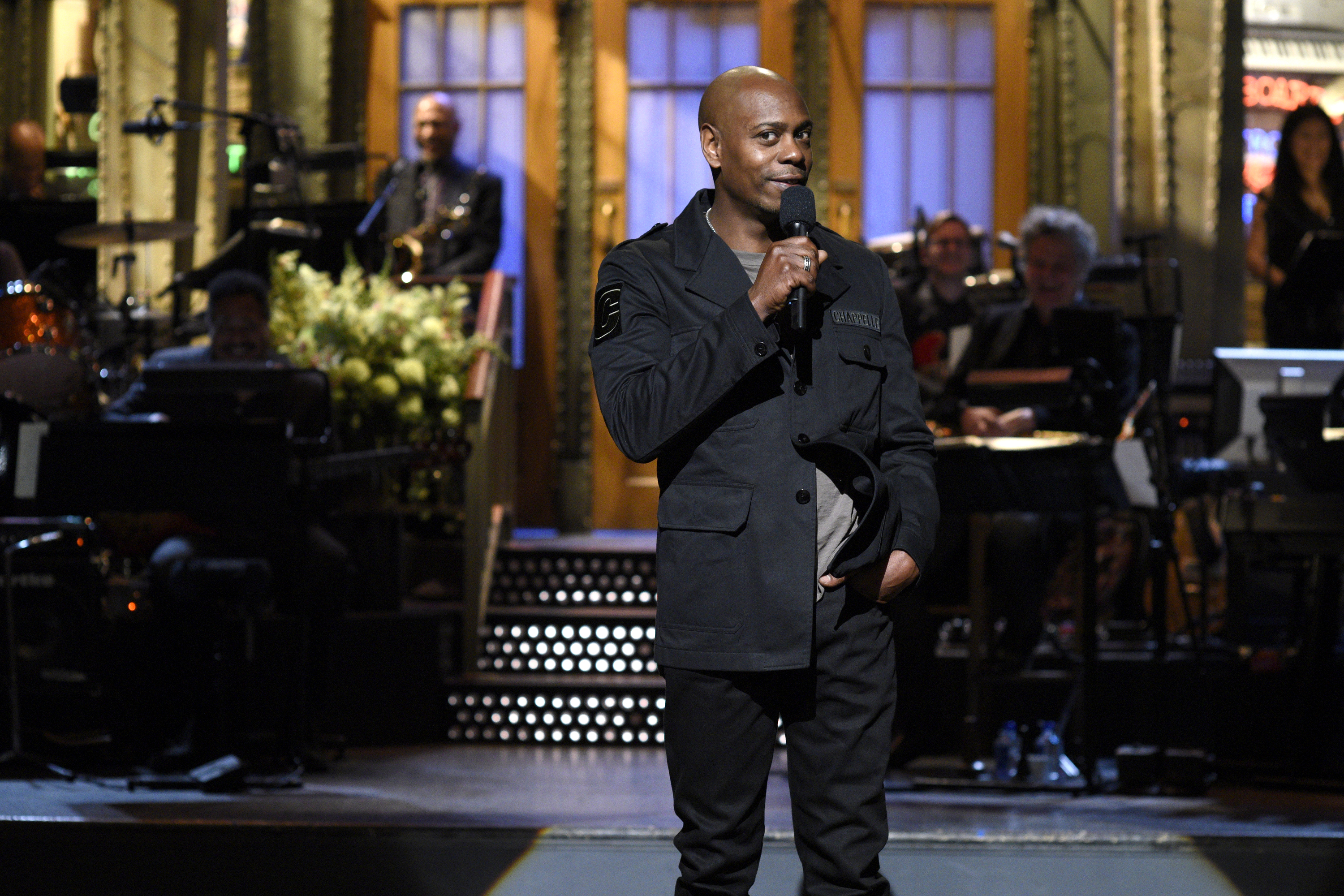 Saturday Night Live Host Dave Chappelle during the monologue on November 12, 2016.