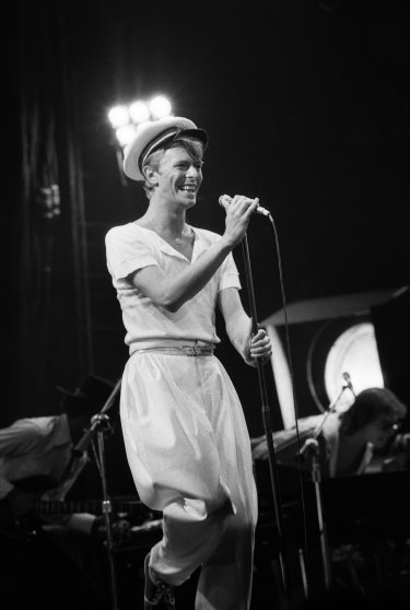 David Bowie on the Isolar II Tour at Oakland Coliseum in Oakland, Calif., 1978.