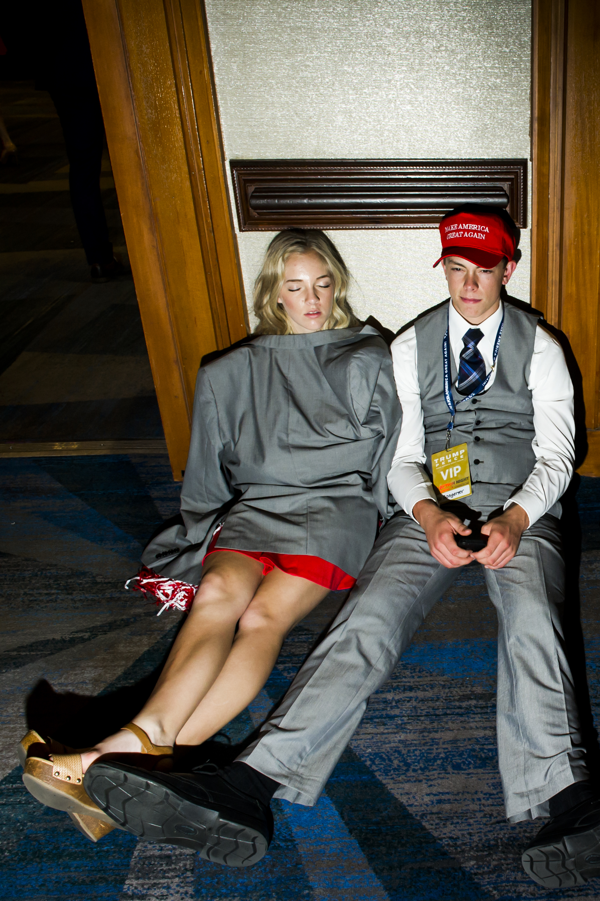 Scenes from President-elect Donald Trump's Victory Party on Tuesday, Nov. 8, 2016 in New York's Manhattan borough.