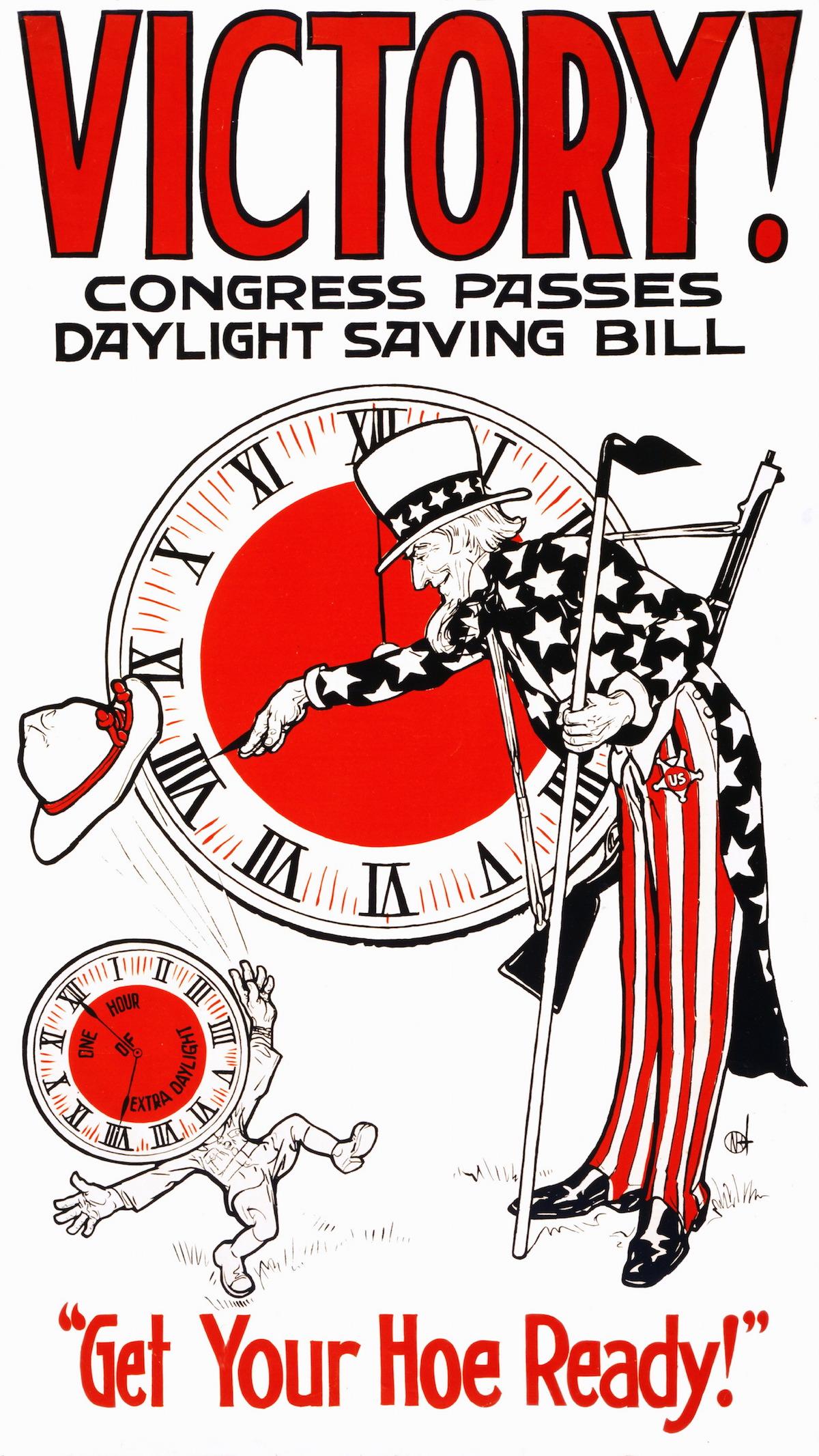 1917 poster celebrating Daylight Savings