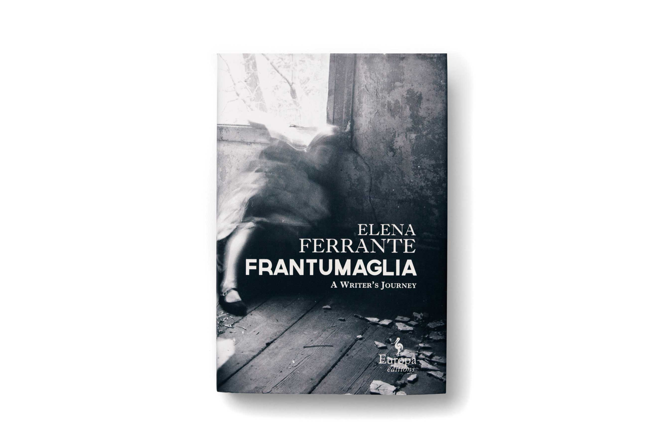 Book cover for 'Frantumaglia' by Elena Ferrante